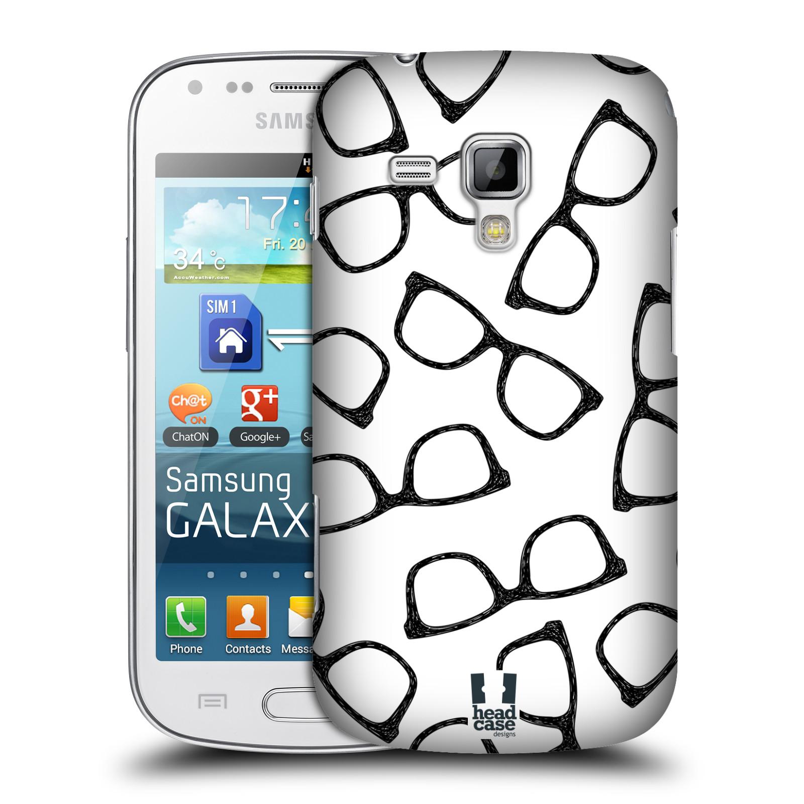 Plastové pouzdro na mobil Samsung Galaxy S Duos HEAD CASE HIPSTER BRÝLE (Kryt či obal na mobilní telefon Samsung Galaxy S Duos GT-S7562)