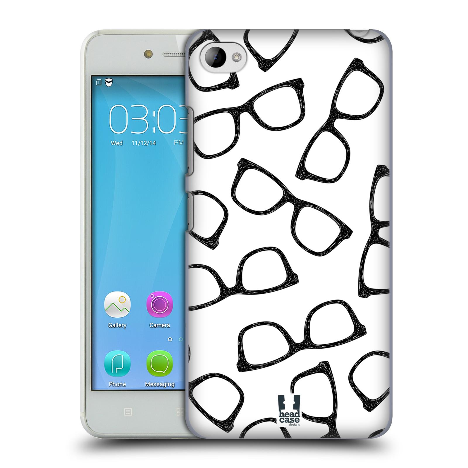 Plastové pouzdro na mobil Lenovo S90 HEAD CASE HIPSTER BRÝLE (Kryt či obal na mobilní telefon Lenovo S90)