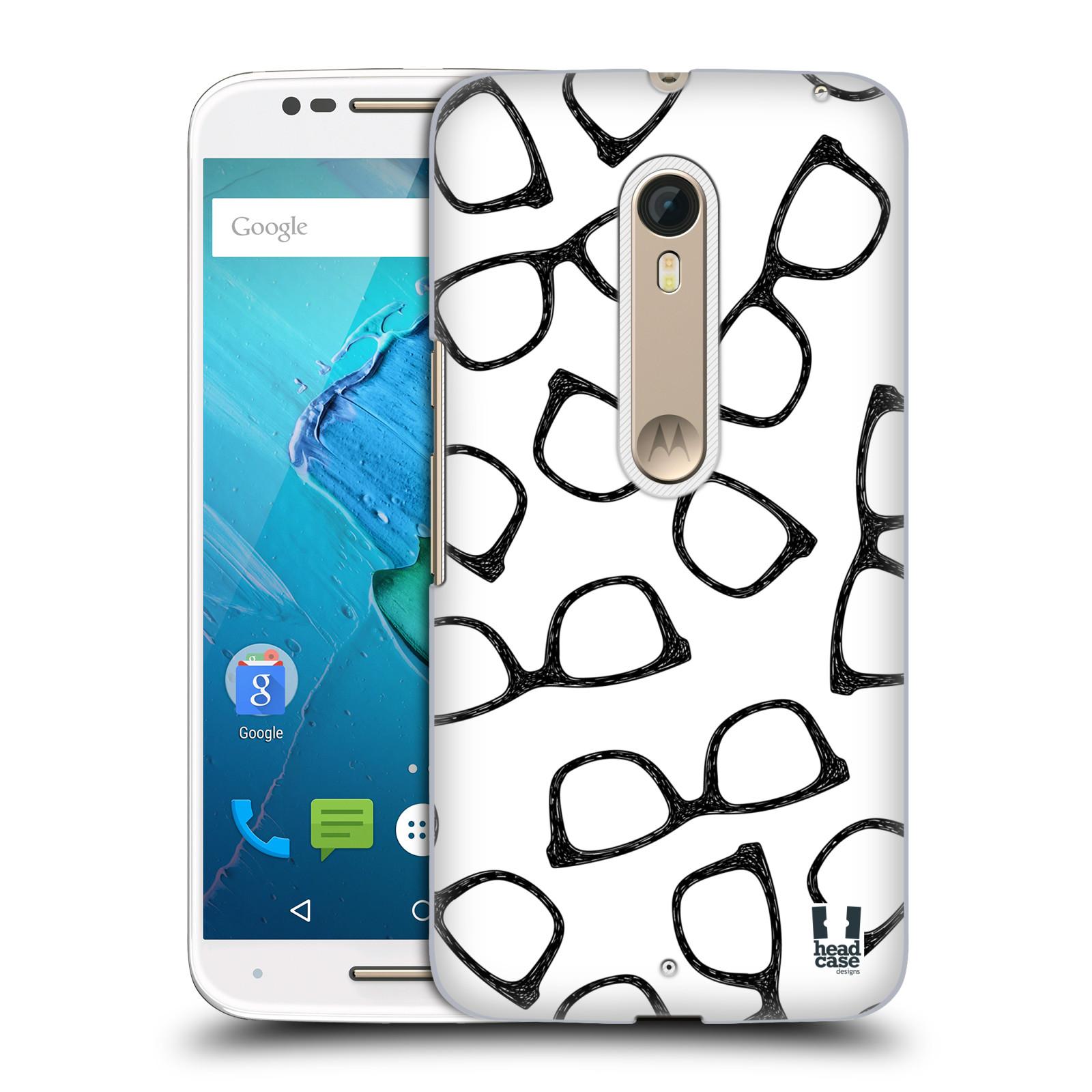 Plastové pouzdro na mobil Motorola Moto X Style HEAD CASE HIPSTER BRÝLE (Plastový kryt či obal na mobilní telefon Motorola Moto X Style)