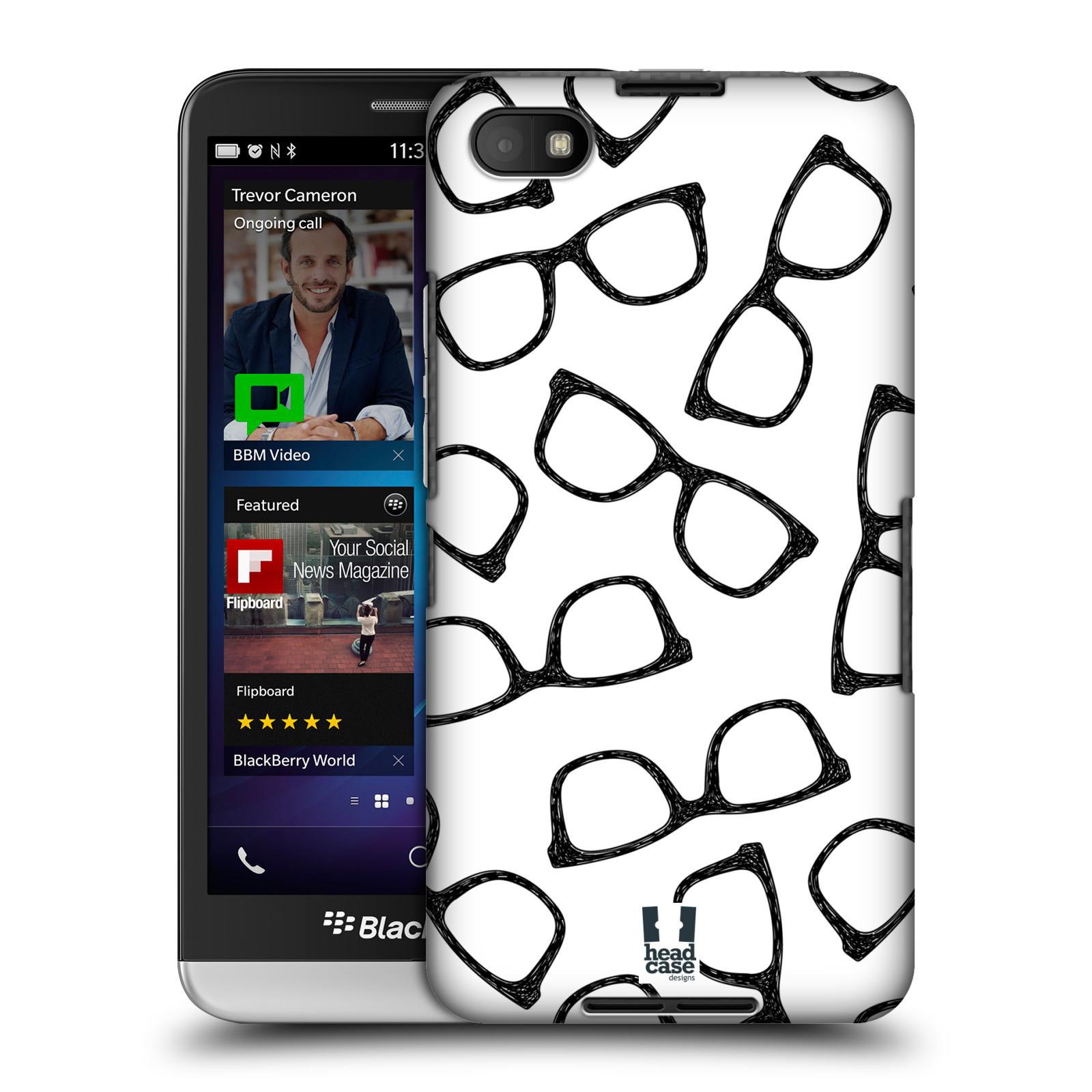 Plastové pouzdro na mobil Blackberry Z30 HEAD CASE HIPSTER BRÝLE (Kryt či obal na mobilní telefon Blackberry Z30)