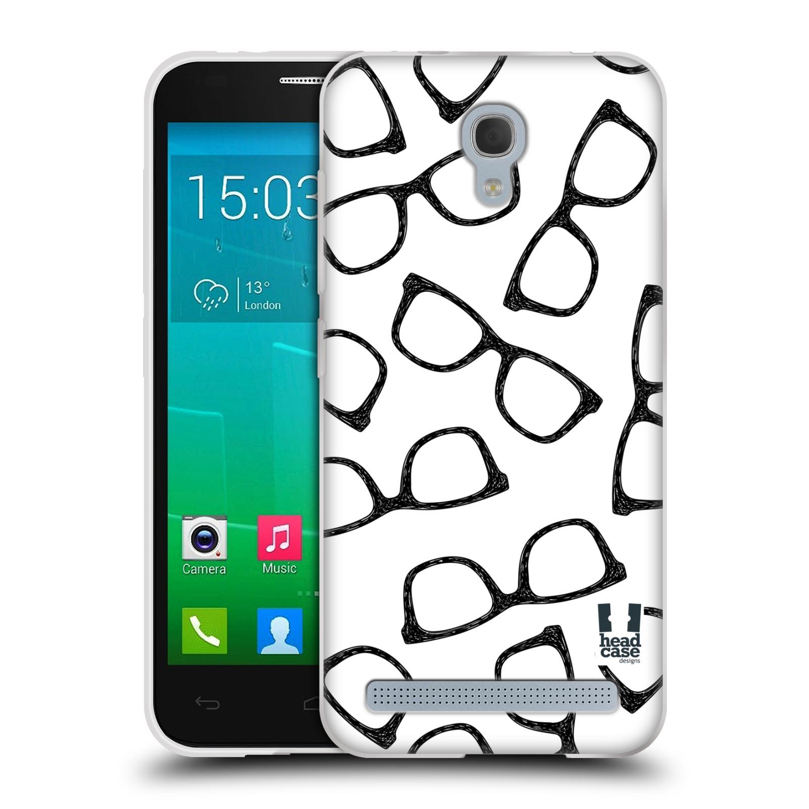 Silikonové pouzdro na mobil Alcatel One Touch Idol 2 Mini S 6036Y HEAD CASE HIPSTER BRÝLE (Silikonový kryt či obal na mobilní telefon Alcatel Idol 2 Mini S OT-6036Y)