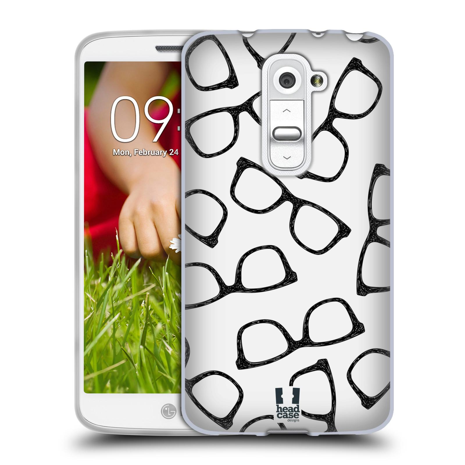 Silikonové pouzdro na mobil LG G2 Mini HEAD CASE HIPSTER BRÝLE (Silikonový kryt či obal na mobilní telefon LG G2 Mini D620)