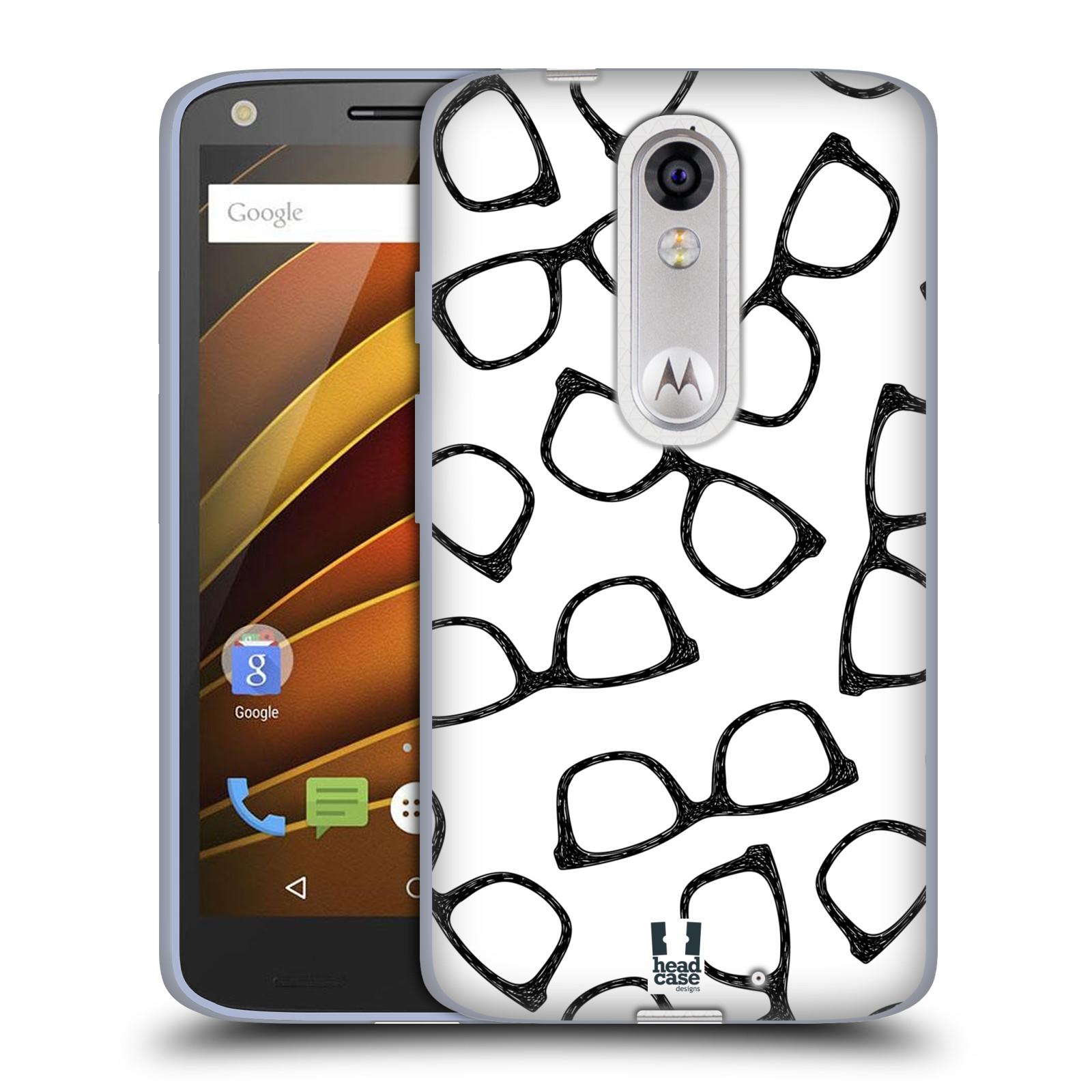 Silikonové pouzdro na mobil Lenovo Moto X Force HEAD CASE HIPSTER BRÝLE (Silikonový kryt či obal na mobilní telefon Lenovo Moto X Force (Motorola))