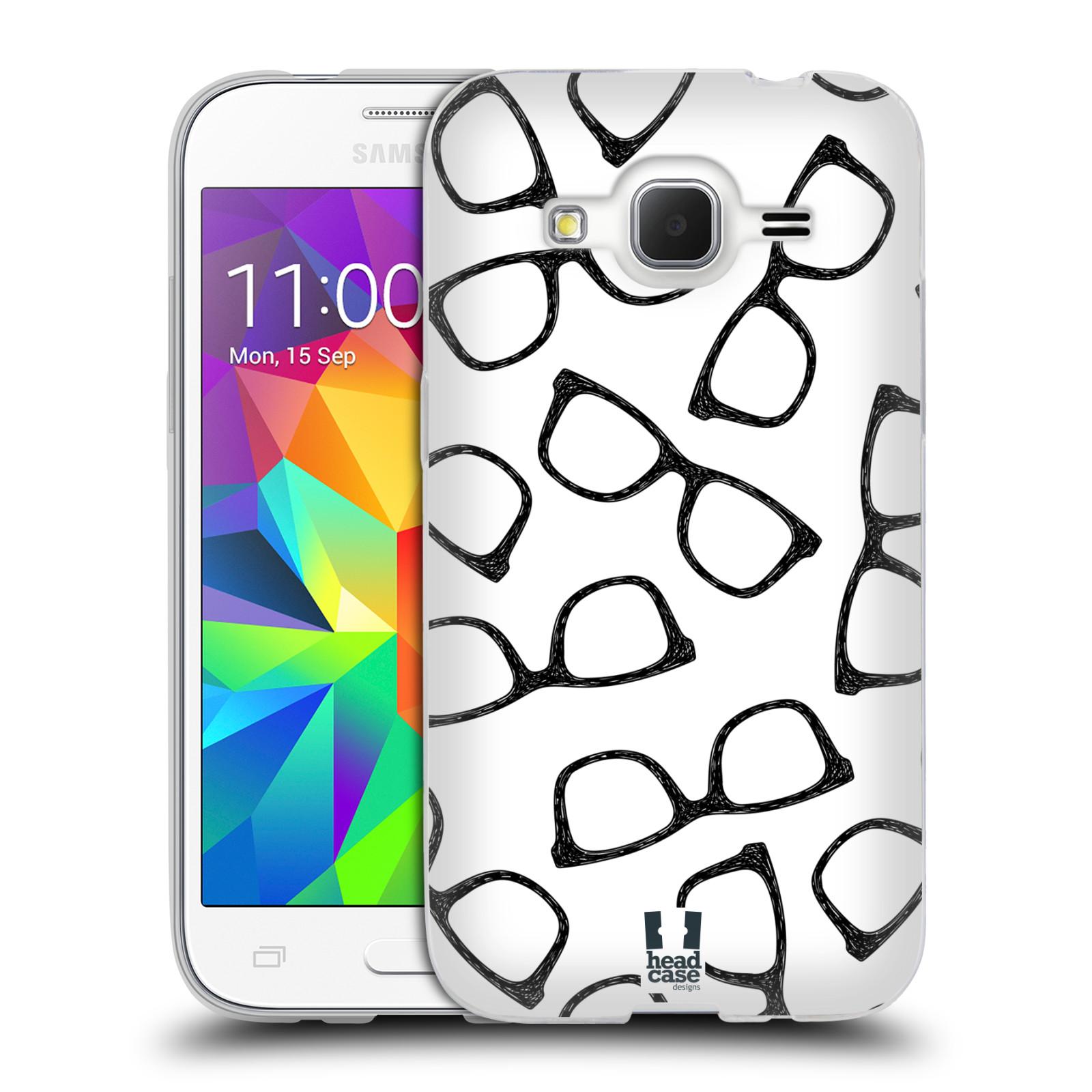 Silikonové pouzdro na mobil Samsung Galaxy Core Prime LTE HEAD CASE HIPSTER BRÝLE (Silikonový kryt či obal na mobilní telefon Samsung Galaxy Core Prime LTE SM-G360)
