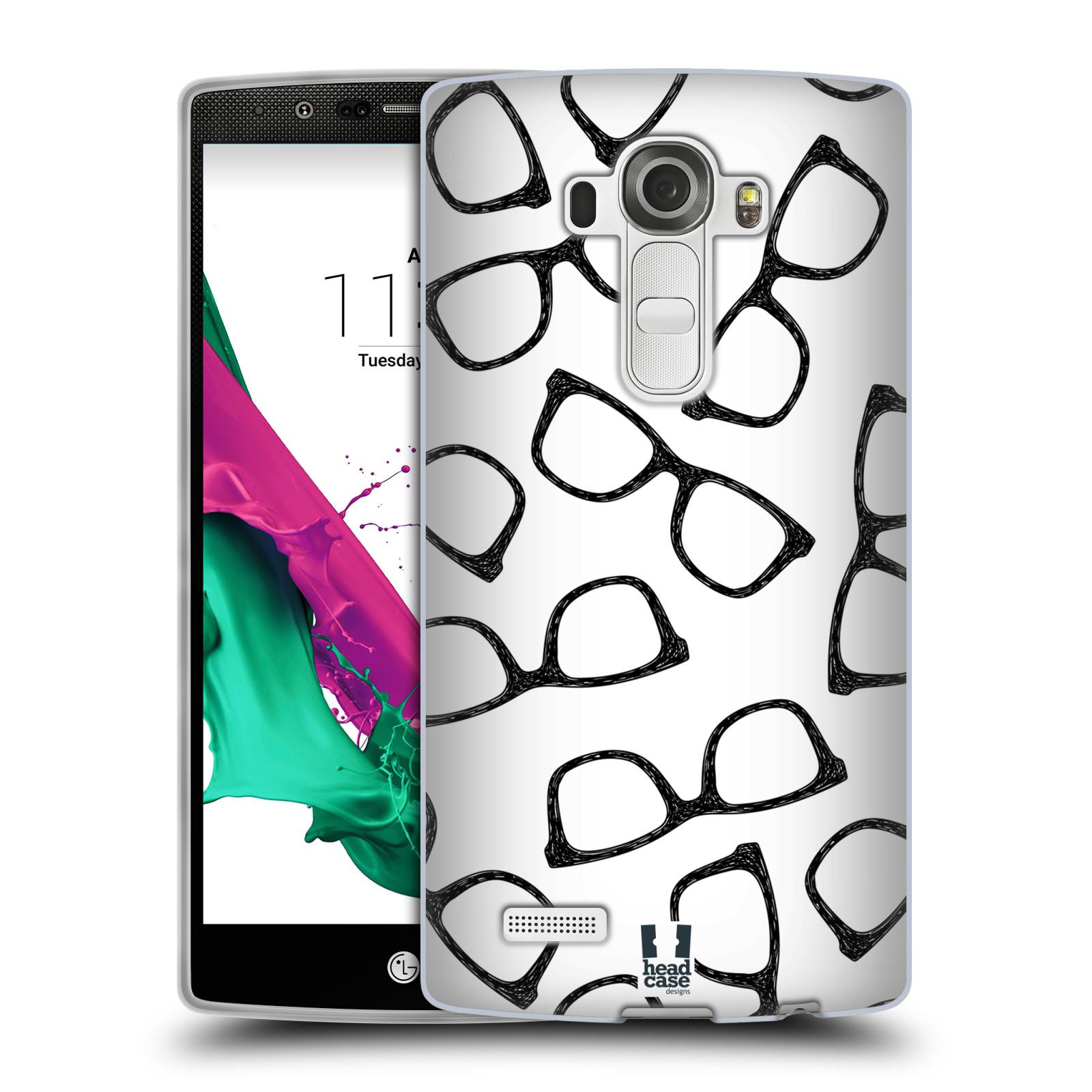 Silikonové pouzdro na mobil LG G4 HEAD CASE HIPSTER BRÝLE (Silikonový kryt či obal na mobilní telefon LG G4 H815)