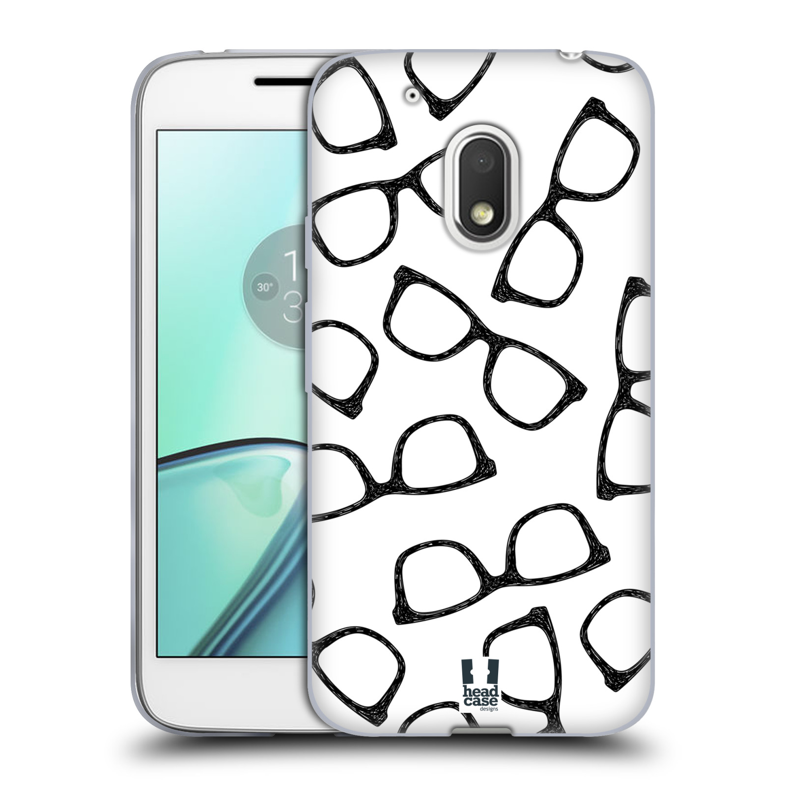 Silikonové pouzdro na mobil Lenovo Moto G4 Play - Head Case - HIPSTER BRÝLE (Silikonový kryt či obal na mobilní telefon (Motorola) Moto G4 Play)