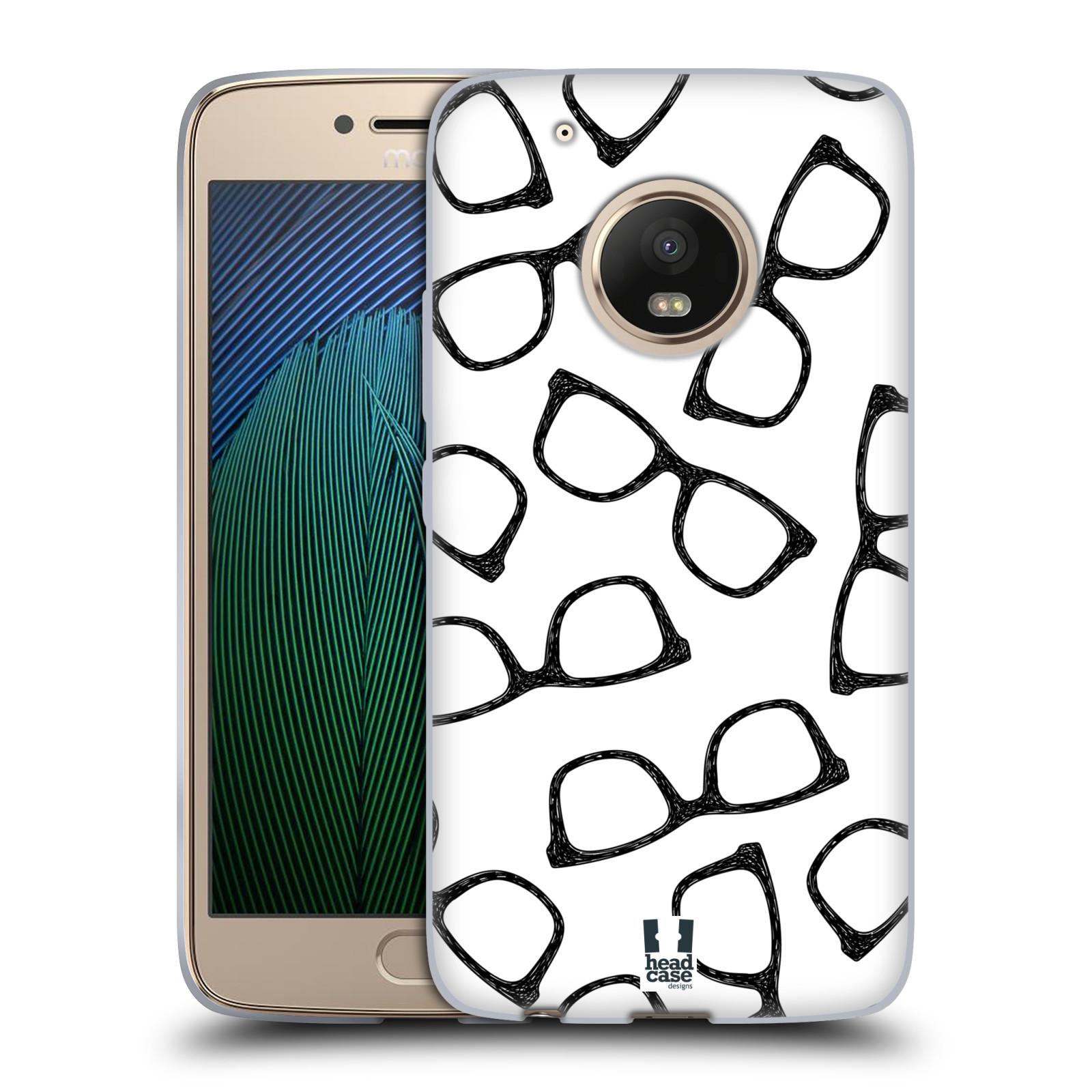 Silikonové pouzdro na mobil Lenovo Moto G5 Plus - Head Case HIPSTER BRÝLE (Silikonový kryt či obal na mobilní telefon Lenovo Moto G5 Plus)