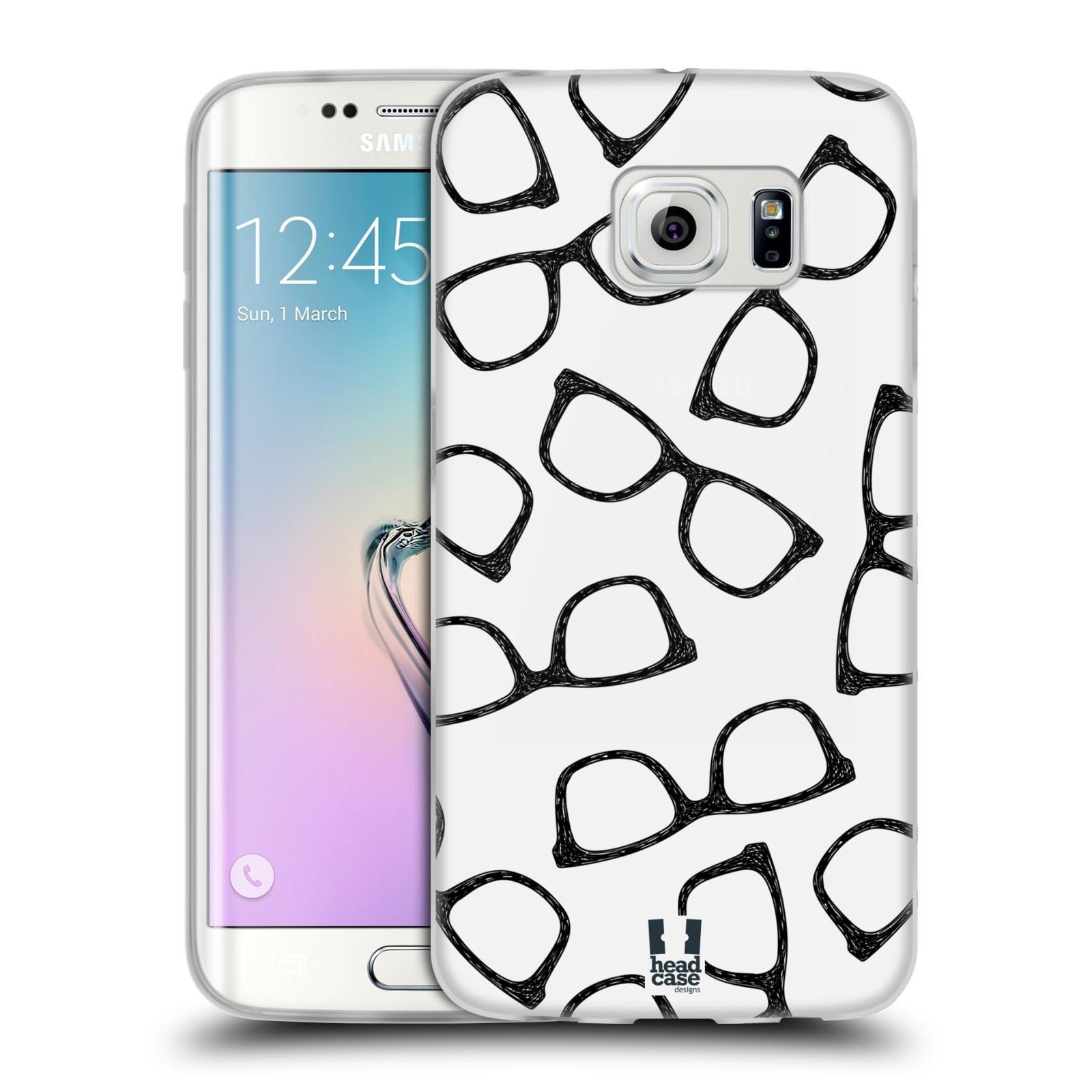 Silikonové pouzdro na mobil Samsung Galaxy S6 Edge HEAD CASE HIPSTER BRÝLE (Silikonový kryt či obal na mobilní telefon Samsung Galaxy S6 Edge SM-G925F)