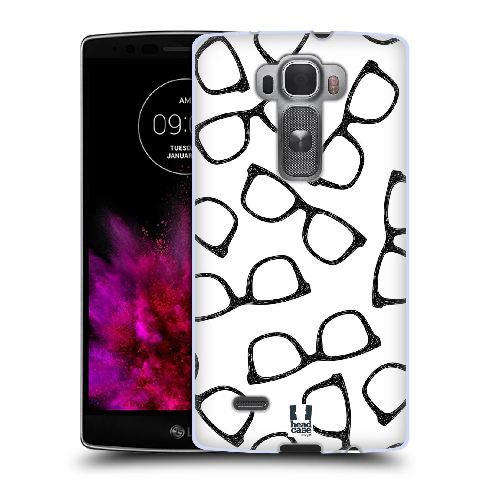 Silikonové pouzdro na mobil LG G Flex 2 HEAD CASE HIPSTER BRÝLE (Silikonový kryt či obal na mobilní telefon LG G Flex 2 H955)