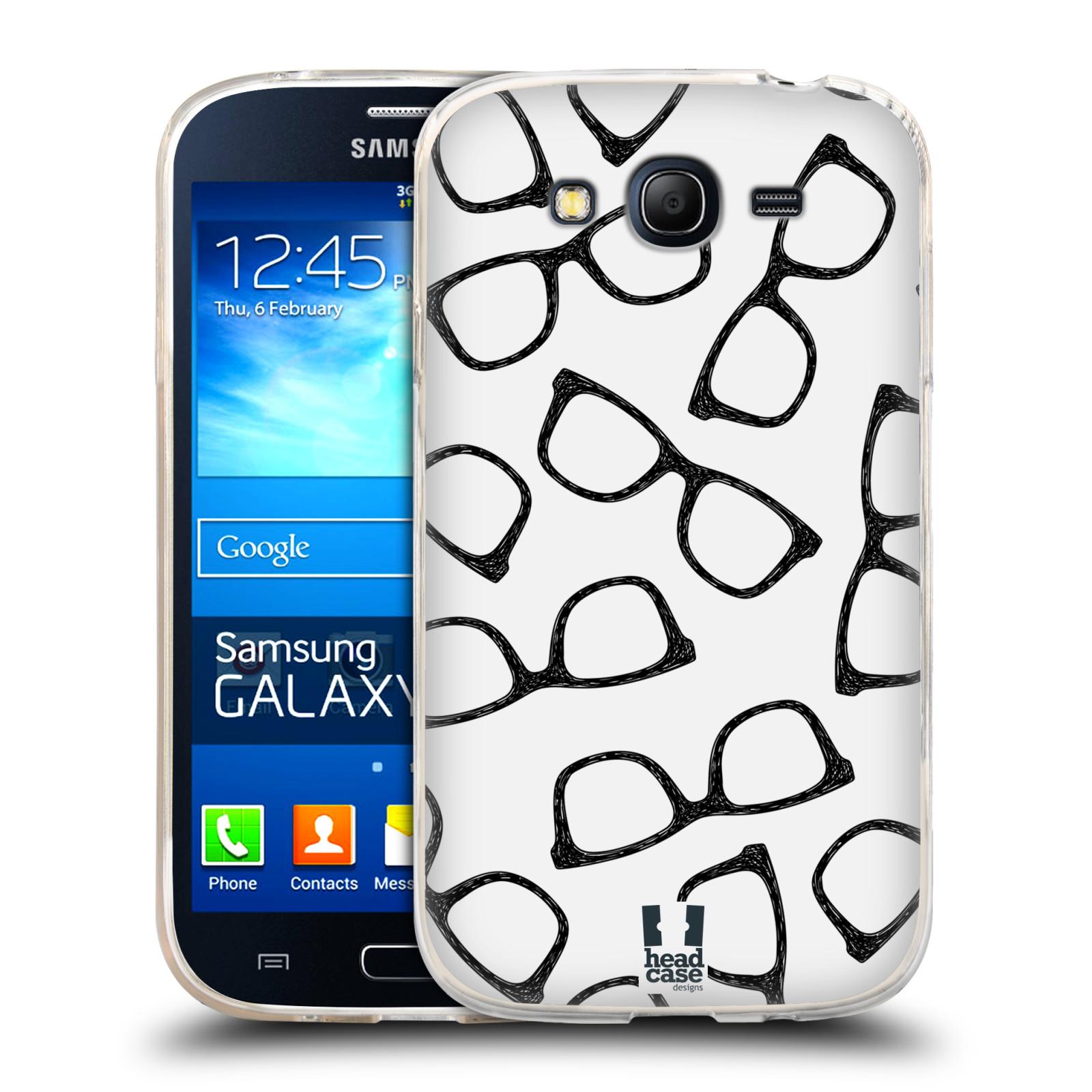 Silikonové pouzdro na mobil Samsung Galaxy Grand Neo HEAD CASE HIPSTER BRÝLE (Silikonový kryt či obal na mobilní telefon Samsung Galaxy Grand Neo GT-I9060)