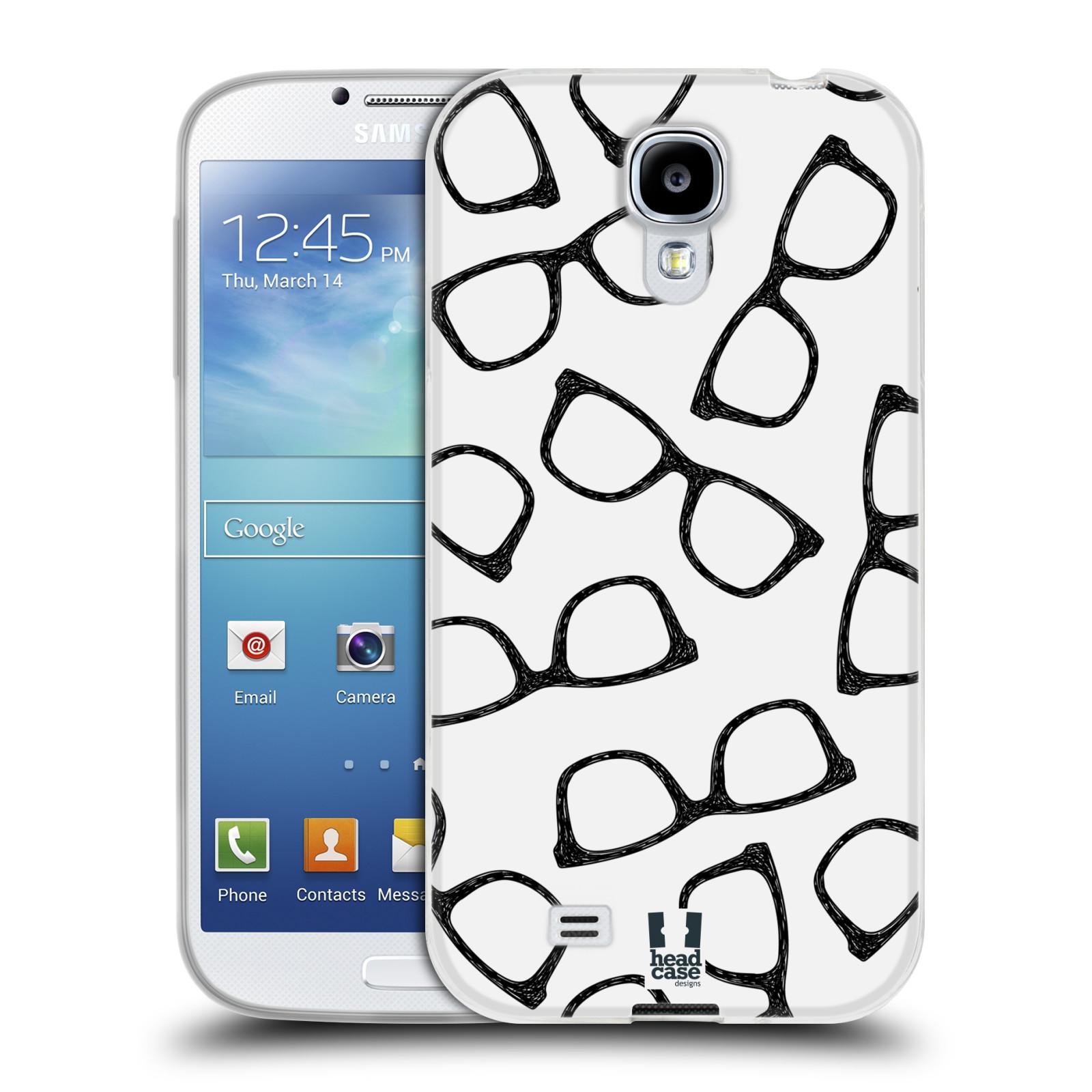 Silikonové pouzdro na mobil Samsung Galaxy S4 HEAD CASE HIPSTER BRÝLE (Silikonový kryt či obal na mobilní telefon Samsung Galaxy S4 GT-i9505 / i9500)