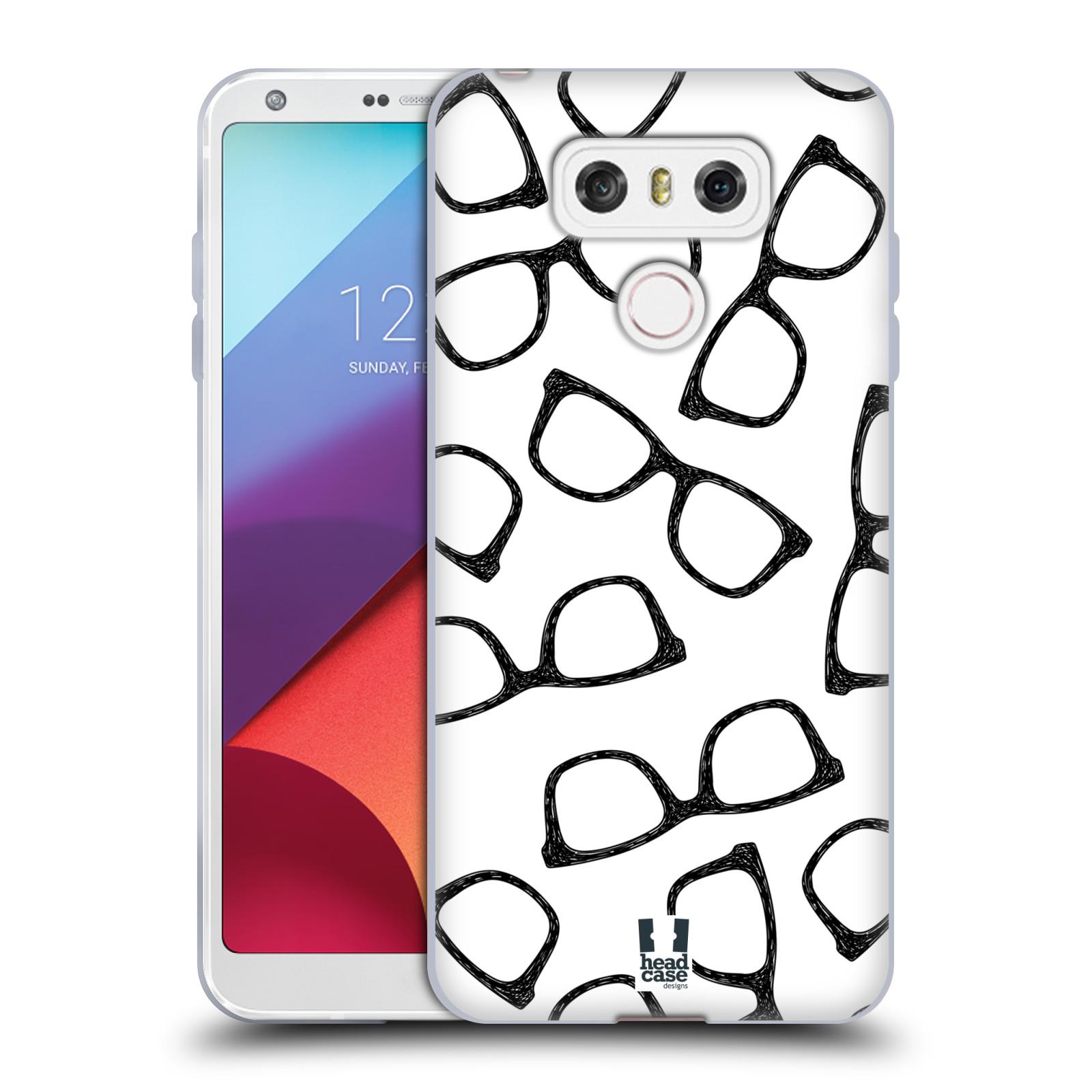 Silikonové pouzdro na mobil LG G6 - Head Case HIPSTER BRÝLE (Silikonový kryt či obal na mobilní telefon LG G6 H870 / LG G6 Dual SIM H870DS)
