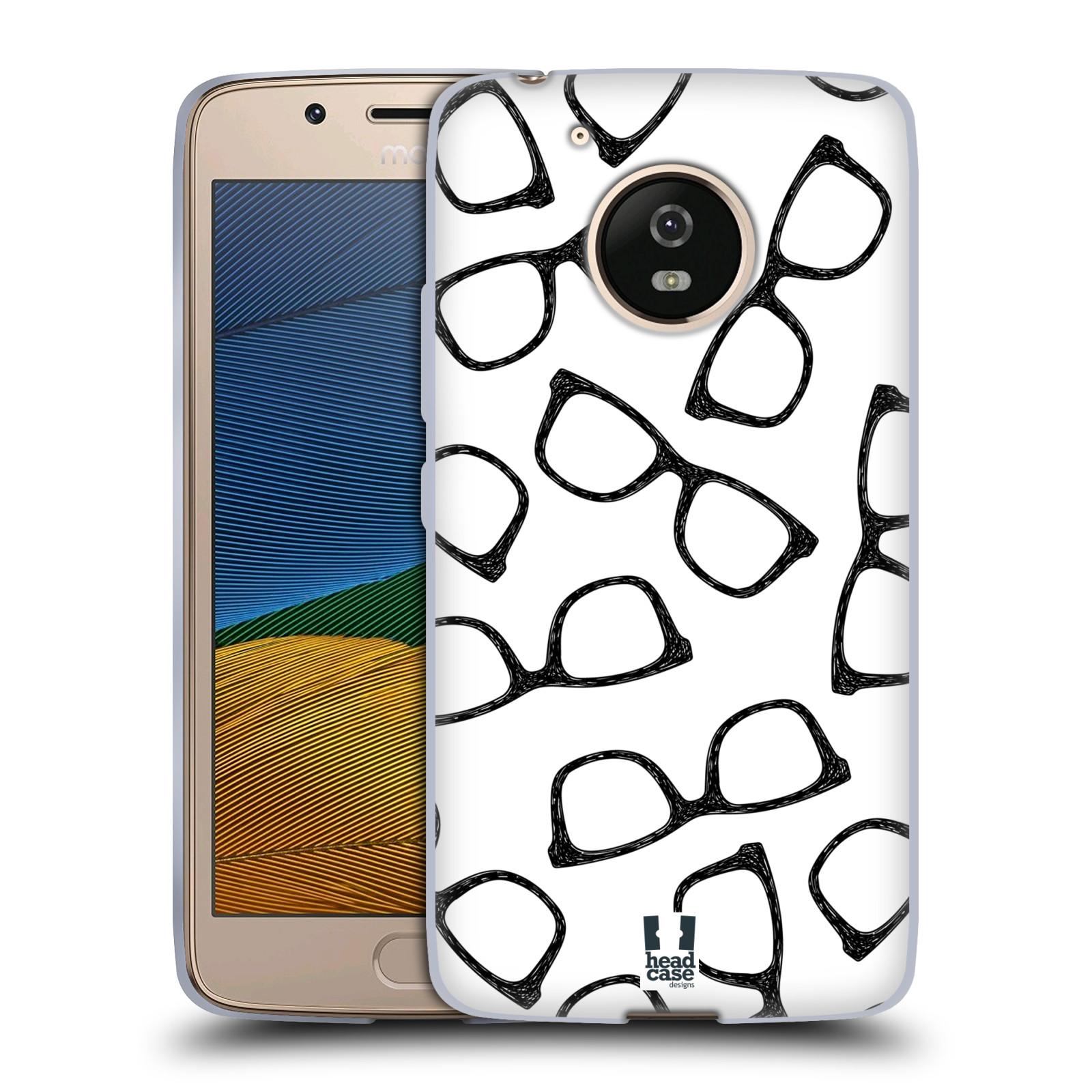 Silikonové pouzdro na mobil Lenovo Moto G5 - Head Case HIPSTER BRÝLE (Silikonový kryt či obal na mobilní telefon Lenovo Moto G5)