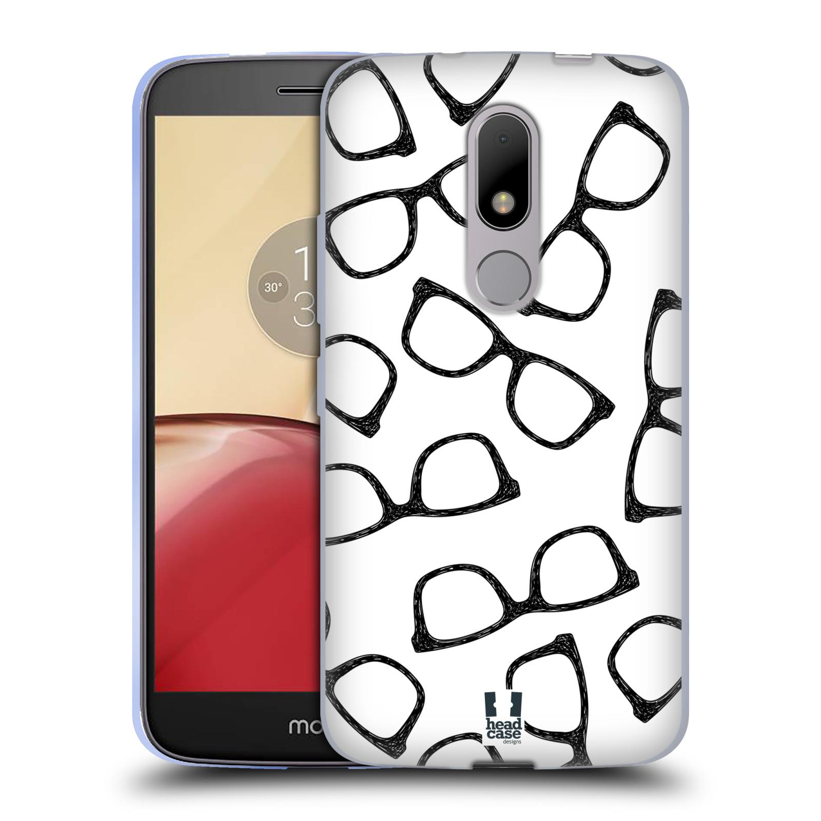 Silikonové pouzdro na mobil Lenovo Moto M - Head Case HIPSTER BRÝLE (Silikonový kryt či obal na mobilní telefon Lenovo Moto M (Dual Sim))