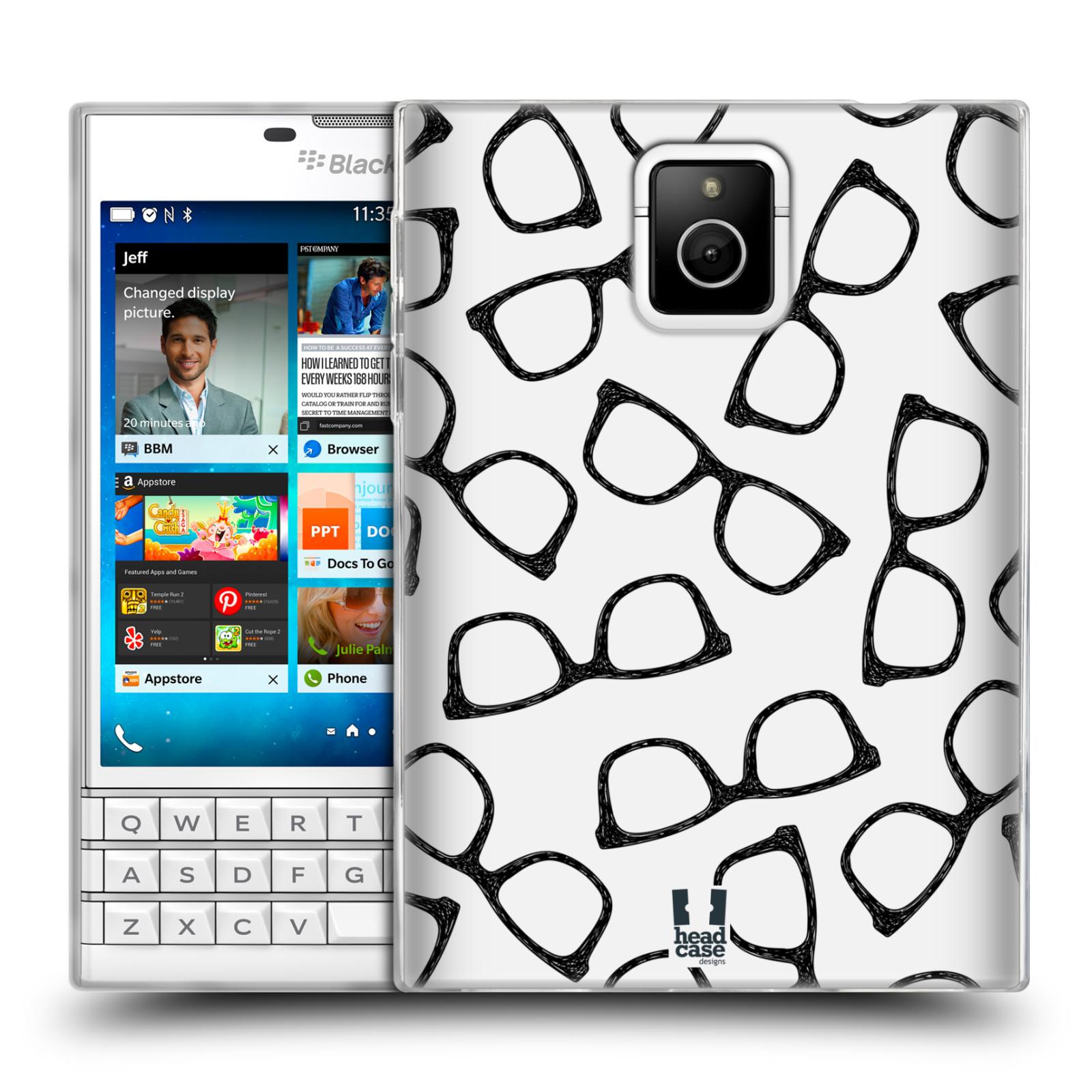 Silikonové pouzdro na mobil Blackberry PASSPORT HEAD CASE HIPSTER BRÝLE (Silikonový kryt či obal na mobilní telefon Blackberry PASSPORT)