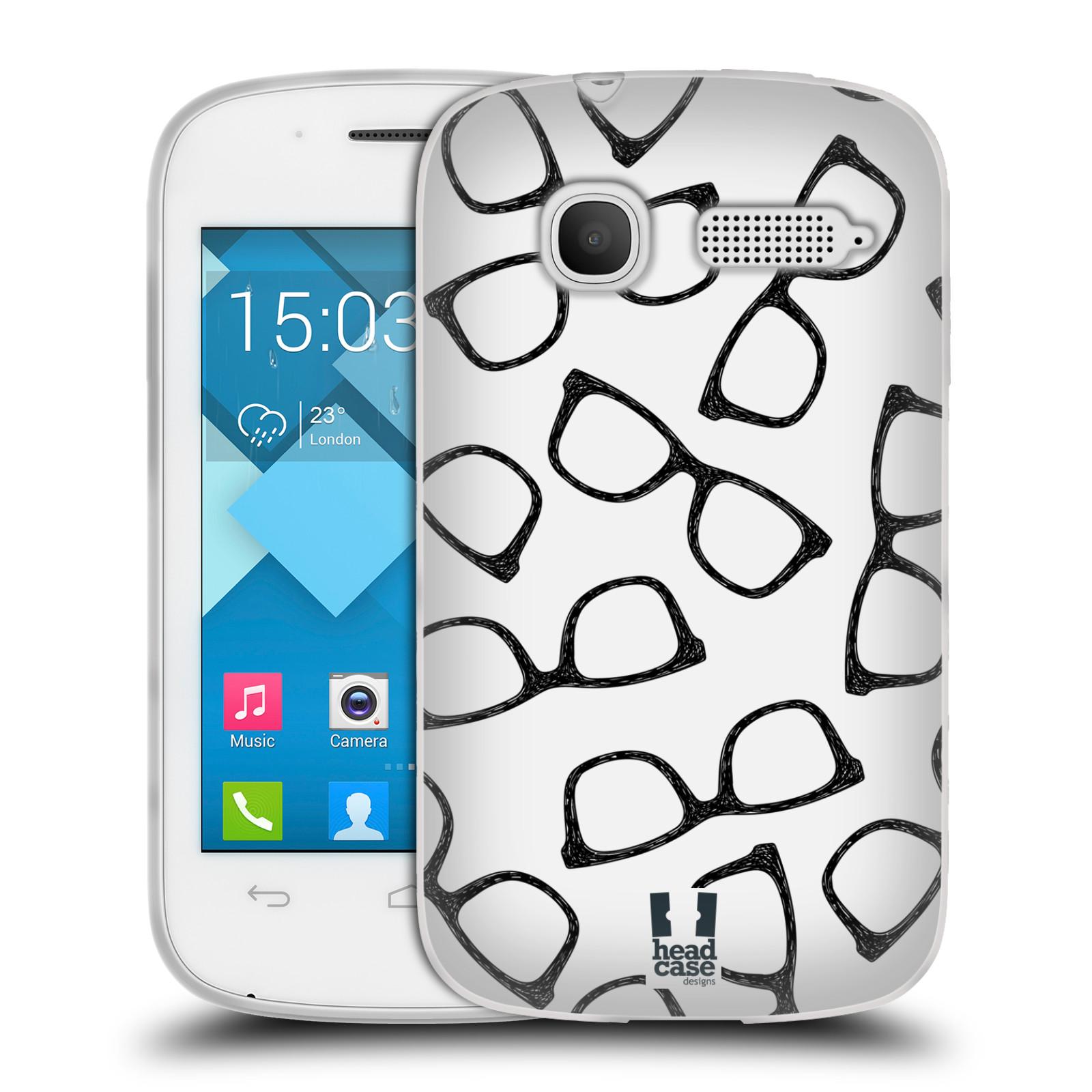 Silikonové pouzdro na mobil Alcatel One Touch Pop C1 HEAD CASE HIPSTER BRÝLE (Silikonový kryt či obal na mobilní telefon Alcatel OT-4015D POP C1)