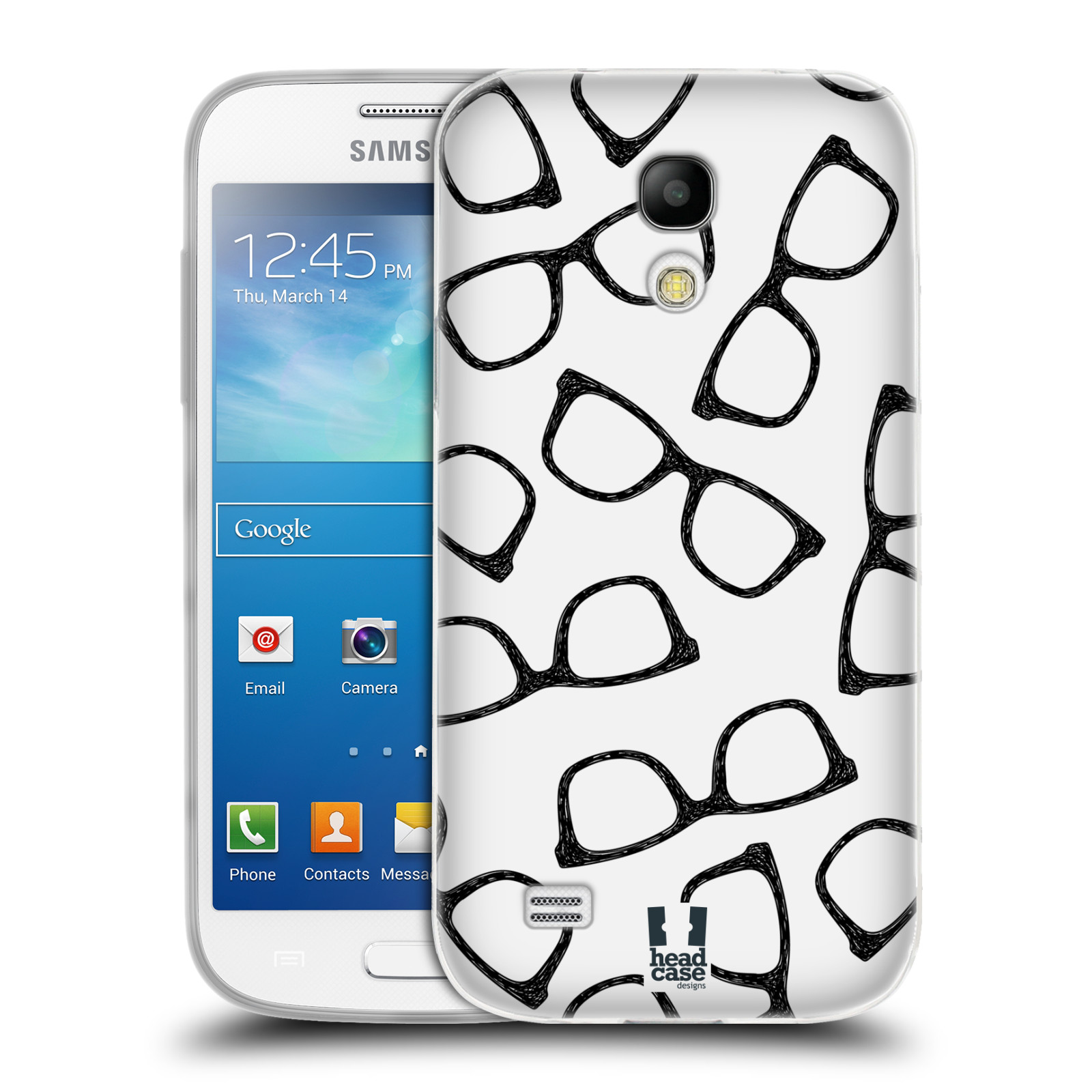 Silikonové pouzdro na mobil Samsung Galaxy S4 Mini HEAD CASE HIPSTER BRÝLE (Silikonový kryt či obal na mobilní telefon Samsung Galaxy S4 Mini GT-i9195 / i9190 (nepasuje na verzi Black Edition))
