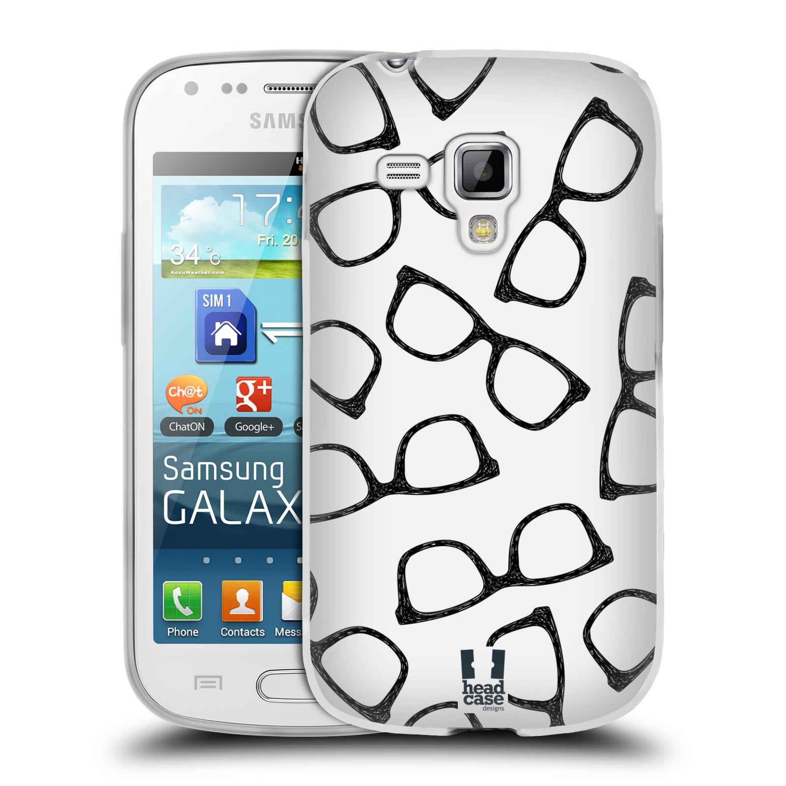 Silikonové pouzdro na mobil Samsung Galaxy Trend HEAD CASE HIPSTER BRÝLE (Silikonový kryt či obal na mobilní telefon Samsung Galaxy Trend GT-S7560)
