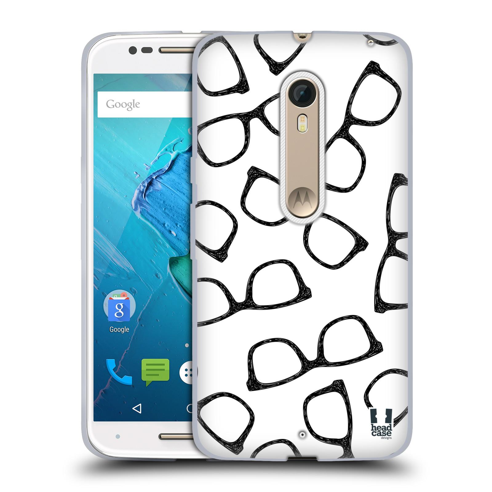 Silikonové pouzdro na mobil Motorola Moto X Style HEAD CASE HIPSTER BRÝLE (Silikonový kryt či obal na mobilní telefon Motorola Moto X Style)