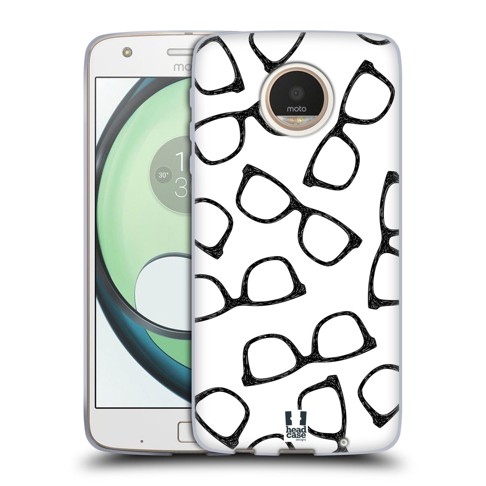 Silikonové pouzdro na mobil Lenovo Moto Z Play HEAD CASE HIPSTER BRÝLE (Silikonový kryt či obal na mobilní telefon Lenovo Moto Z Play)