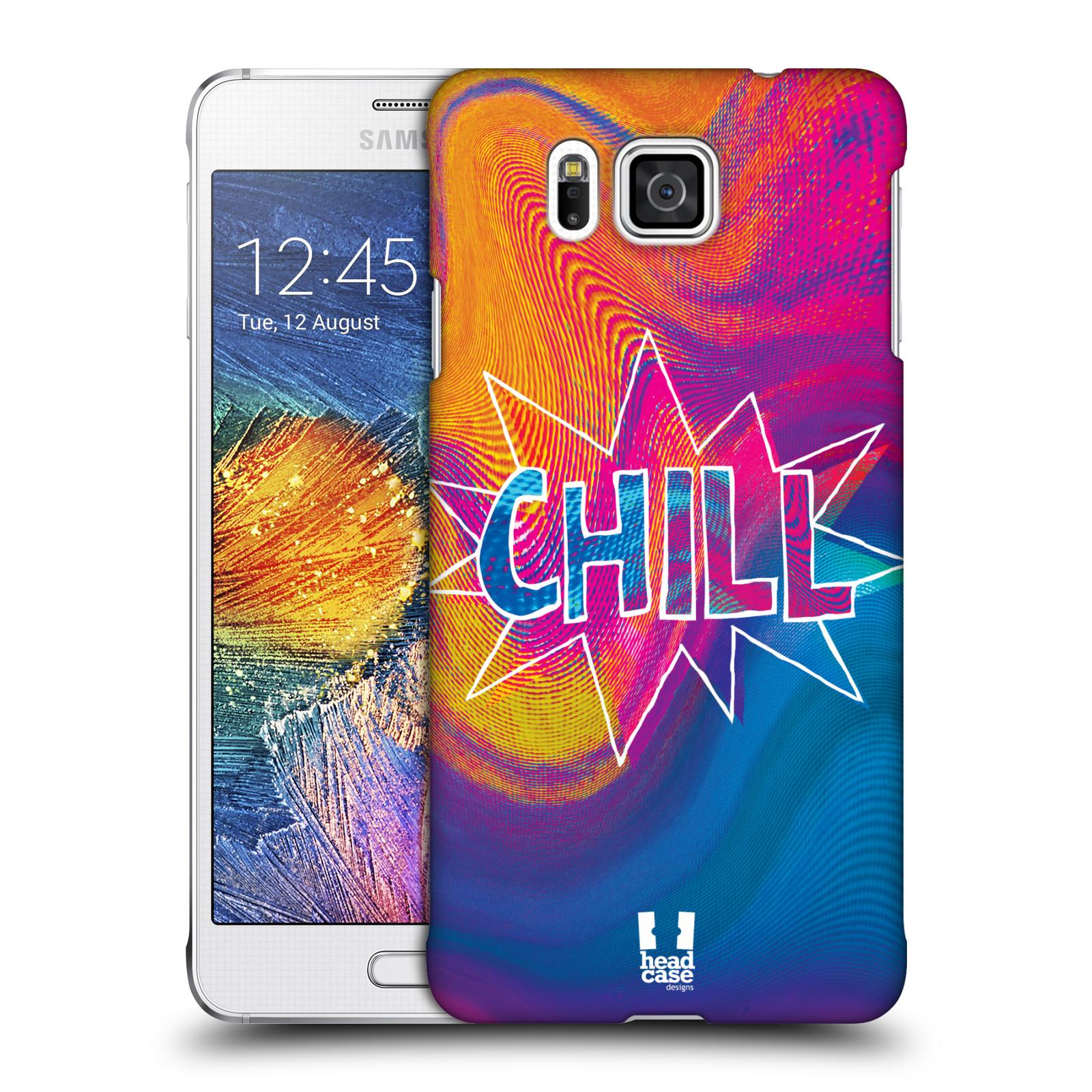 Plastové pouzdro na mobil Samsung Galaxy Alpha HEAD CASE HOLOGRAF CHILL