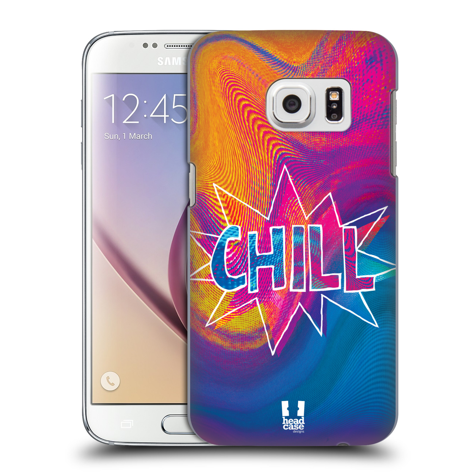 Plastové pouzdro na mobil Samsung Galaxy S7 HEAD CASE HOLOGRAF CHILL (Kryt či obal na mobilní telefon Samsung Galaxy S7 SM-G930F)