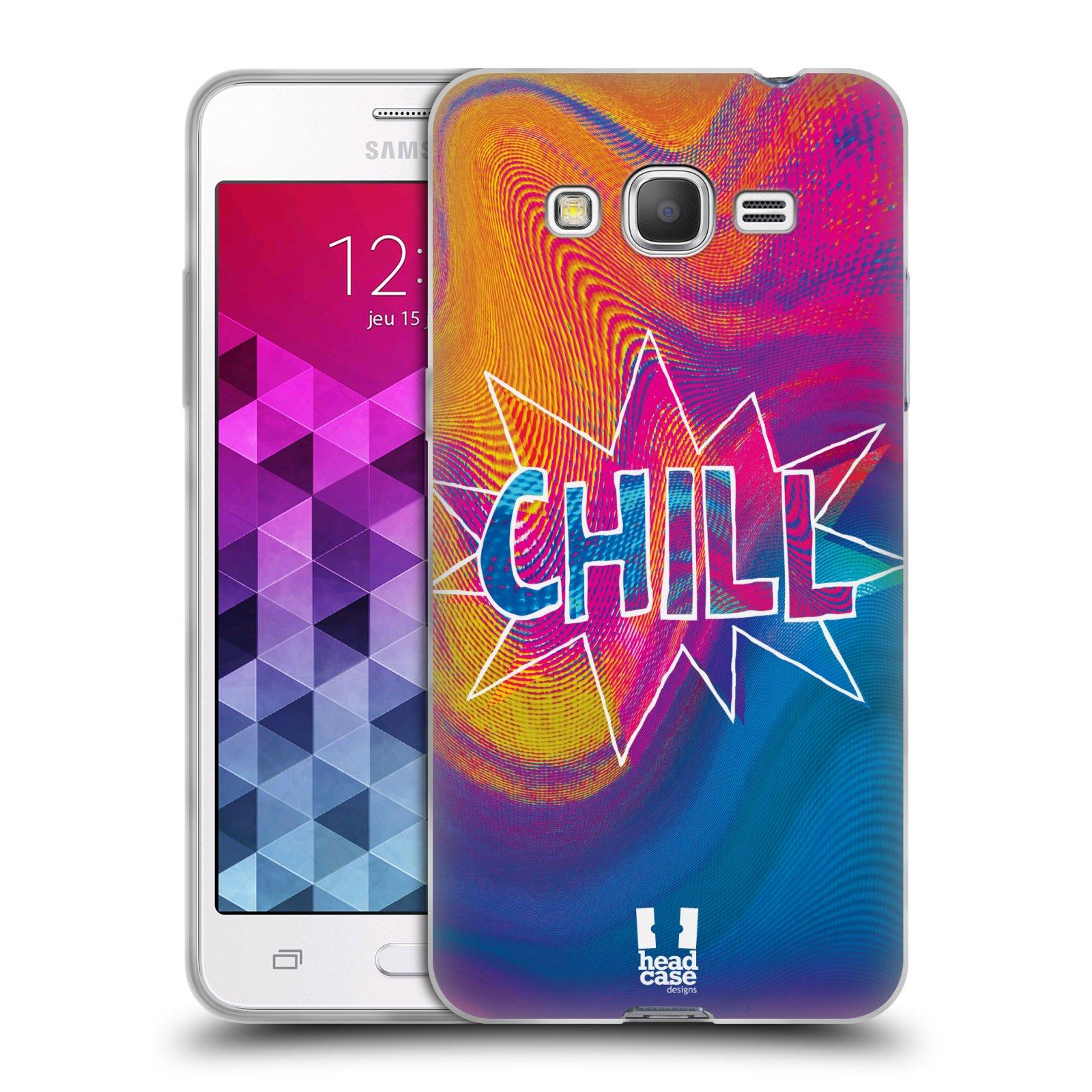 Silikonové pouzdro na mobil Samsung Galaxy Grand Prime HEAD CASE HOLOGRAF CHILL