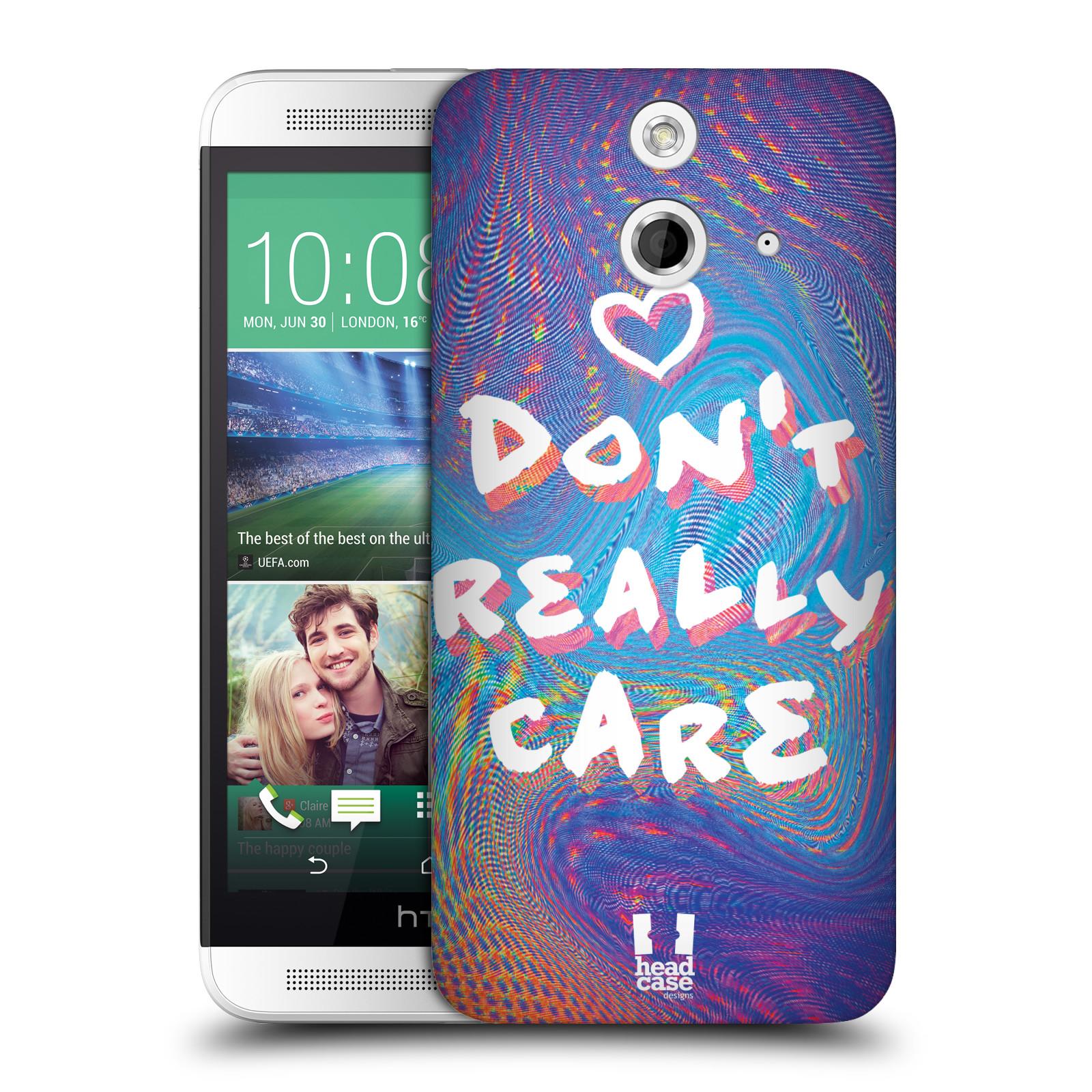 Plastové pouzdro na mobil HTC ONE E8 HEAD CASE HOLOGRAF DON'T CARE (Kryt či obal na mobilní telefon HTC ONE E8)