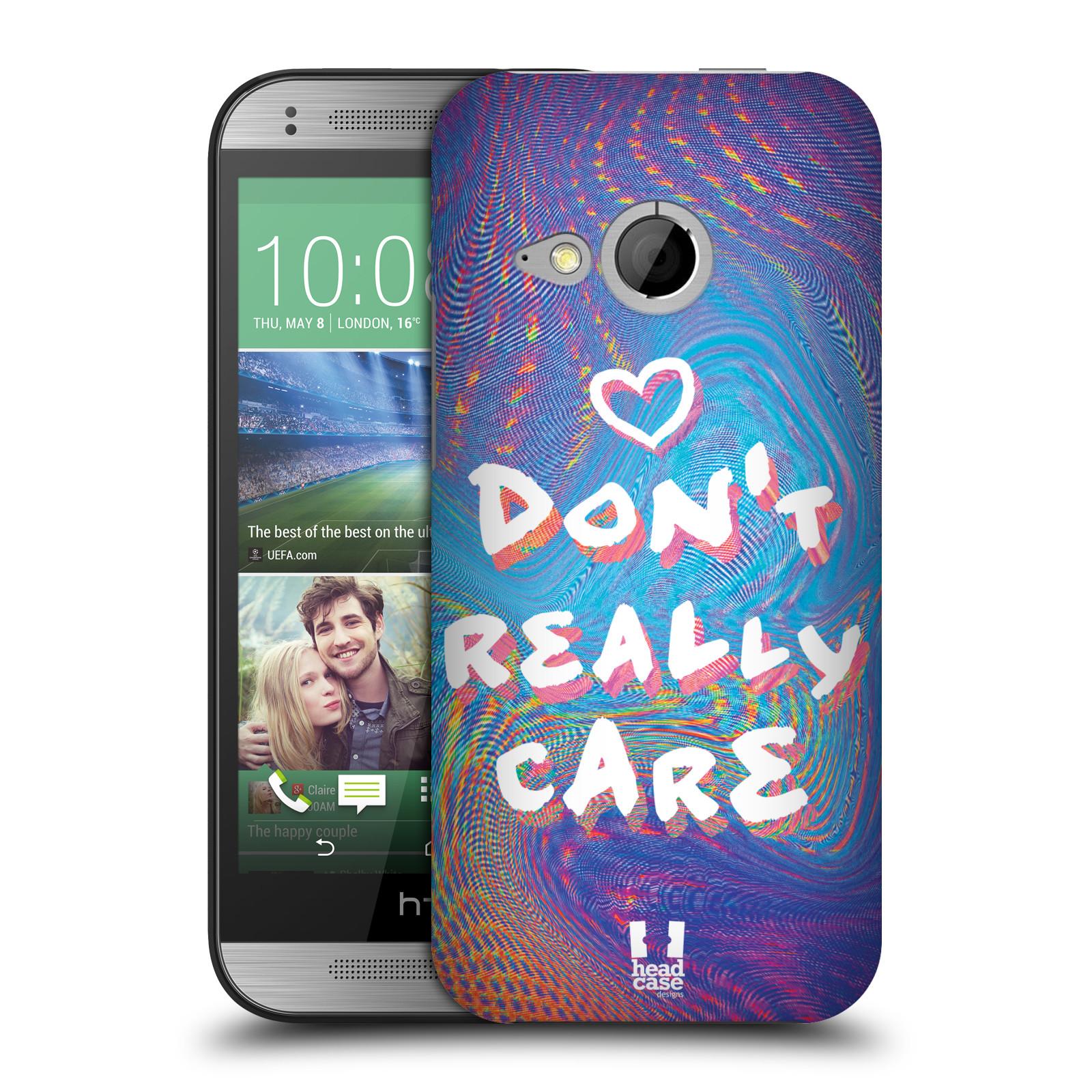 Plastové pouzdro na mobil HTC ONE Mini 2 HEAD CASE HOLOGRAF DON'T CARE (Kryt či obal na mobilní telefon HTC ONE Mini 2)