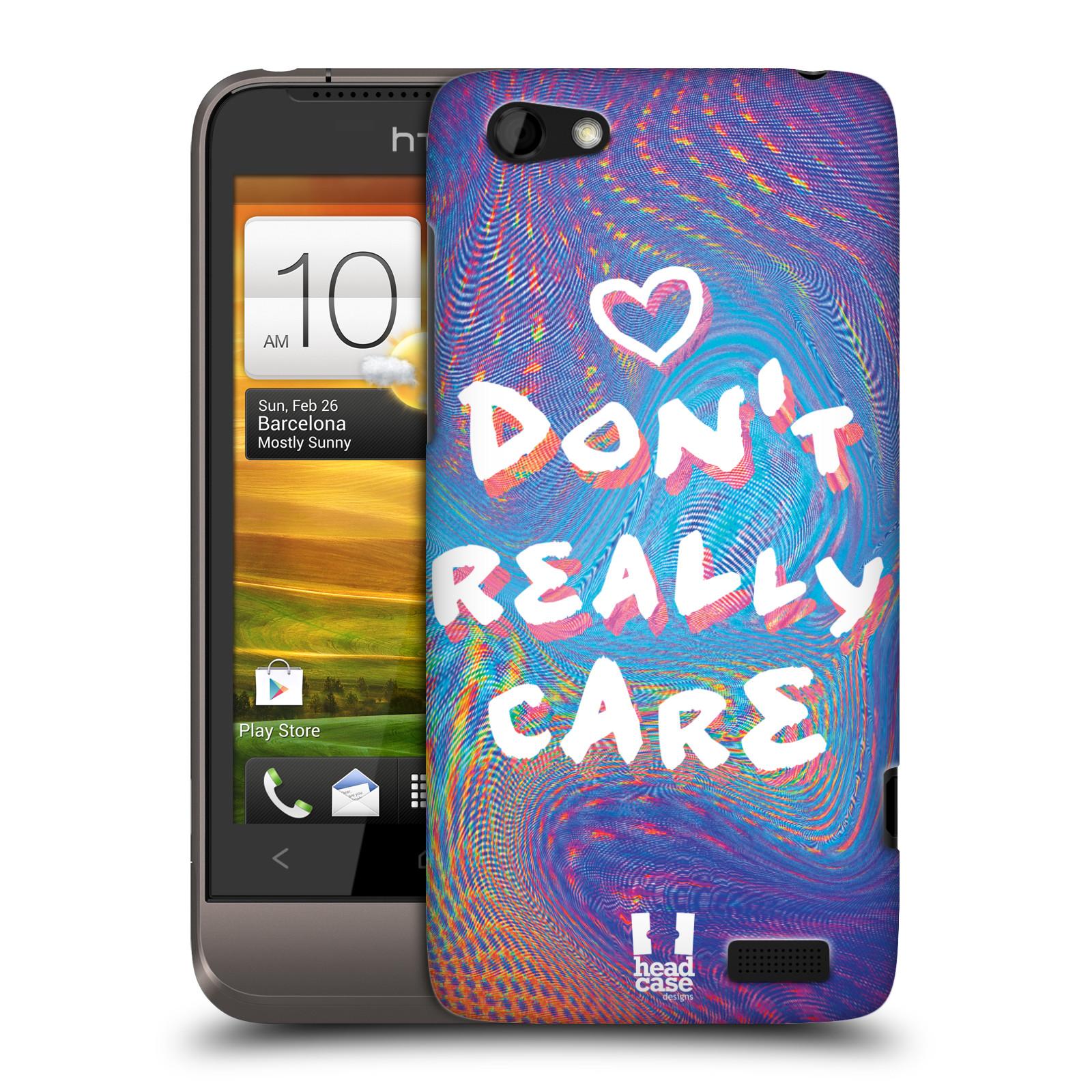Plastové pouzdro na mobil HTC ONE V HEAD CASE HOLOGRAF DON'T CARE (Kryt či obal na mobilní telefon HTC ONE V)