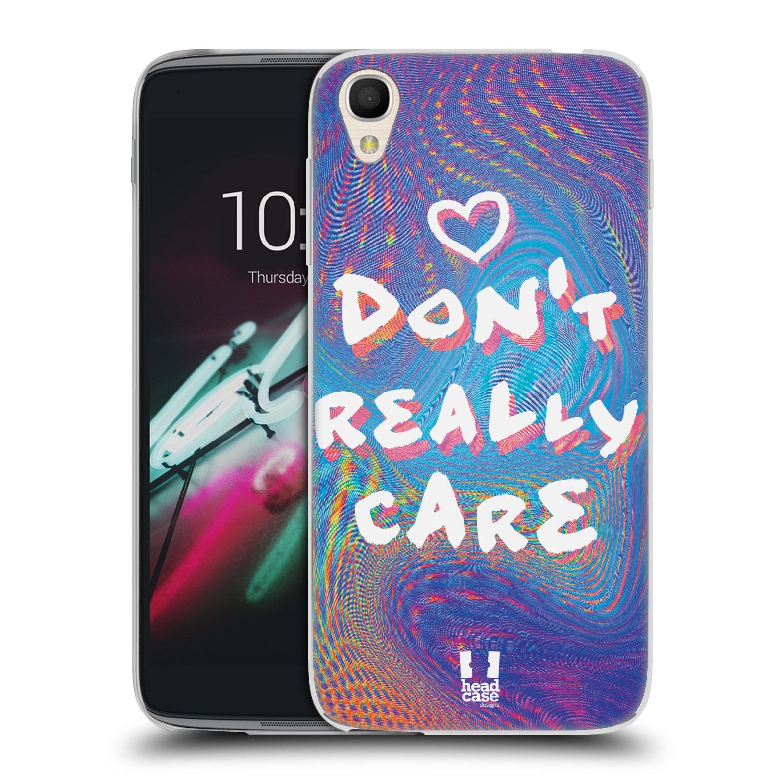 """Silikonové pouzdro na mobil Alcatel One Touch 6039Y Idol 3 HEAD CASE HOLOGRAF DON'T CARE (Silikonový kryt či obal na mobilní telefon Alcatel One Touch Idol 3 OT-6039Y s 4,7"""" displejem)"""