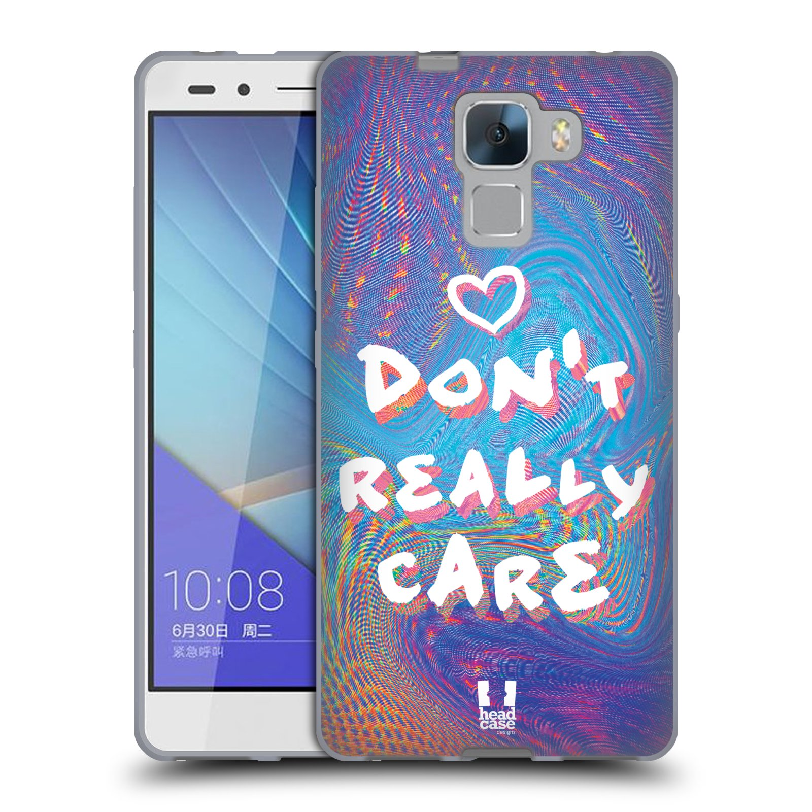 Silikonové pouzdro na mobil Honor 7 HEAD CASE HOLOGRAF DON'T CARE