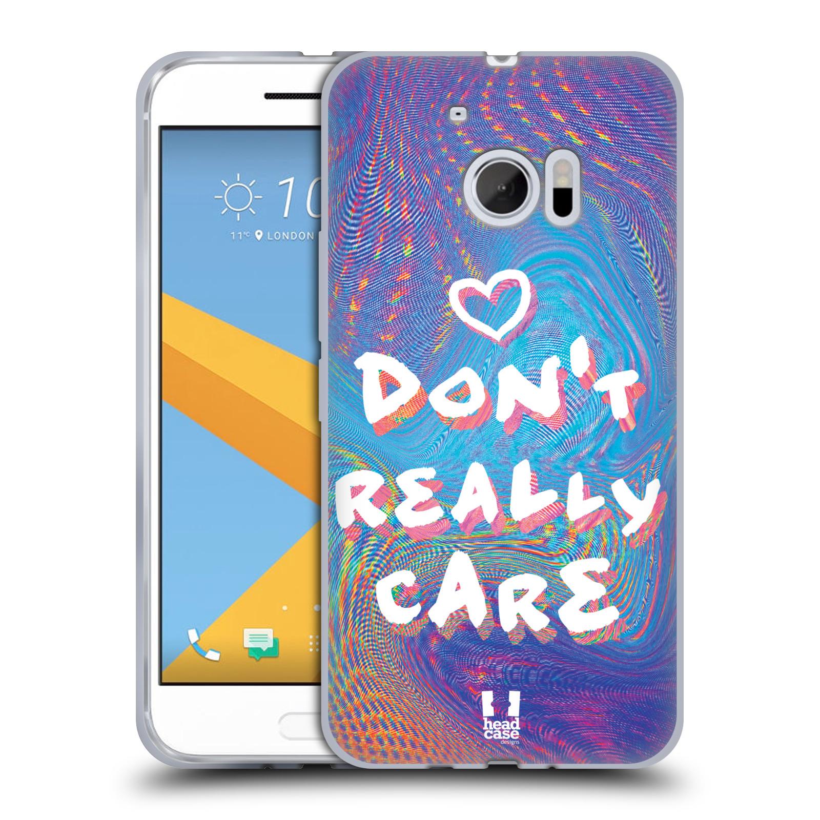 Silikonové pouzdro na mobil HTC 10 HEAD CASE HOLOGRAF DON'T CARE (Silikonový kryt či obal na mobilní telefon HTC 10 (HTC One M10))