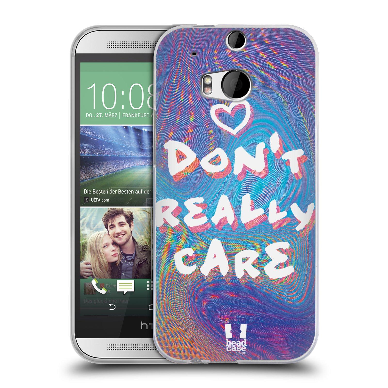 Silikonové pouzdro na mobil HTC ONE M8 HEAD CASE HOLOGRAF DON'T CARE (Silikonový kryt či obal na mobilní telefon HTC ONE M8)