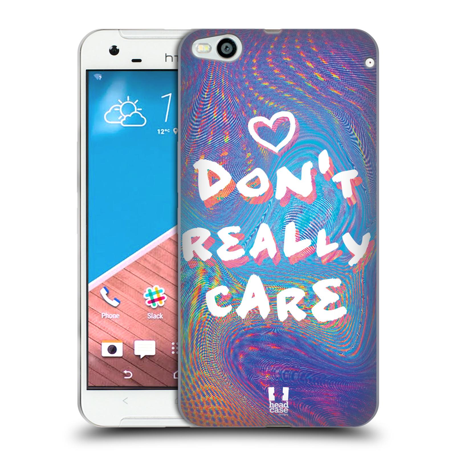 Silikonové pouzdro na mobil HTC One X9 HEAD CASE HOLOGRAF DON'T CARE (Silikonový kryt či obal na mobilní telefon HTC One X9)