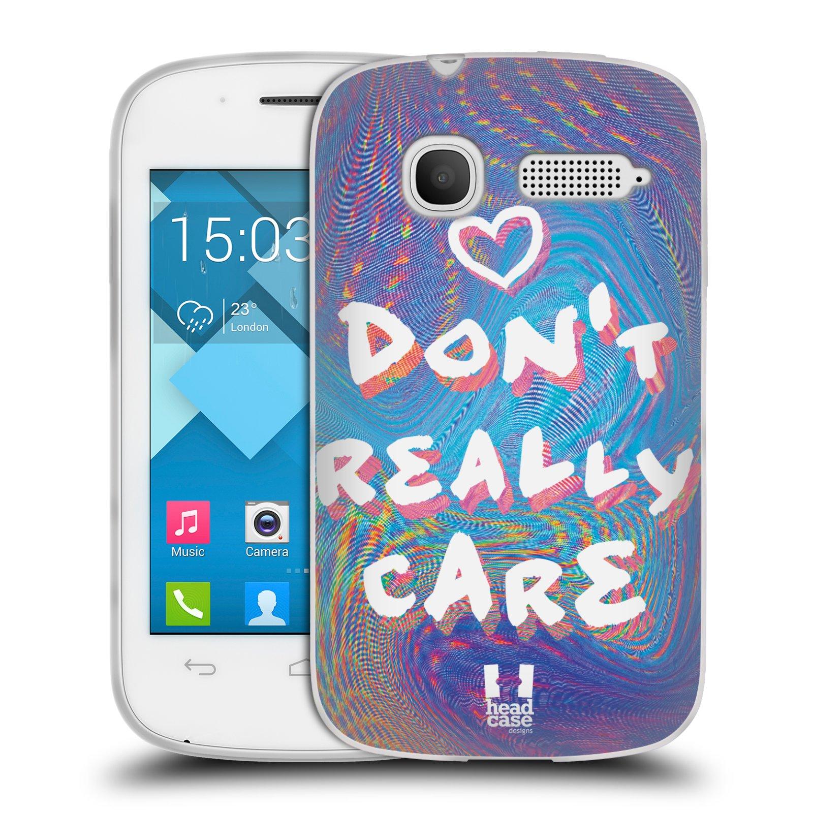 Silikonové pouzdro na mobil Alcatel One Touch Pop C1 HEAD CASE HOLOGRAF DON'T CARE (Silikonový kryt či obal na mobilní telefon Alcatel OT-4015D POP C1)