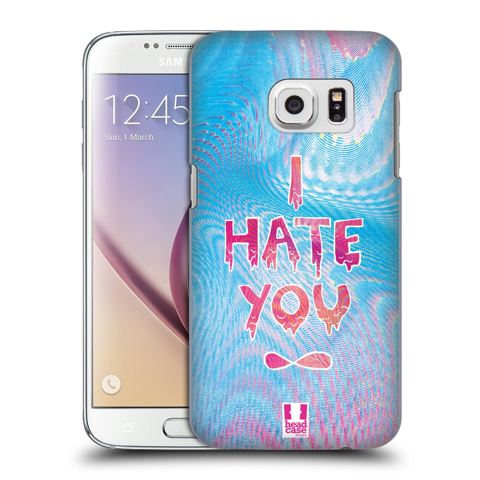 Plastové pouzdro na mobil Samsung Galaxy S7 HEAD CASE HOLOGRAF HATE YOU (Kryt či obal na mobilní telefon Samsung Galaxy S7 SM-G930F)
