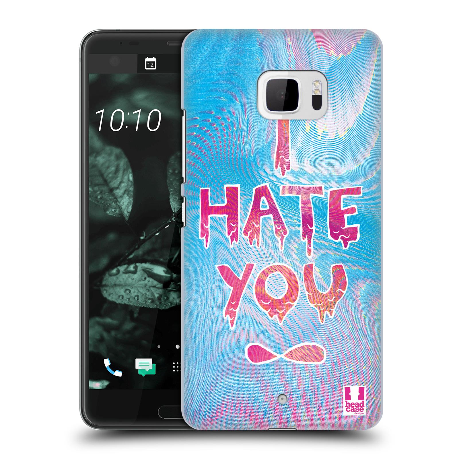 Plastové pouzdro na mobil HTC U Ultra Head Case - HOLOGRAF HATE YOU (Plastový kryt či obal na mobilní telefon HTC U Ultra (99HALT015-00))