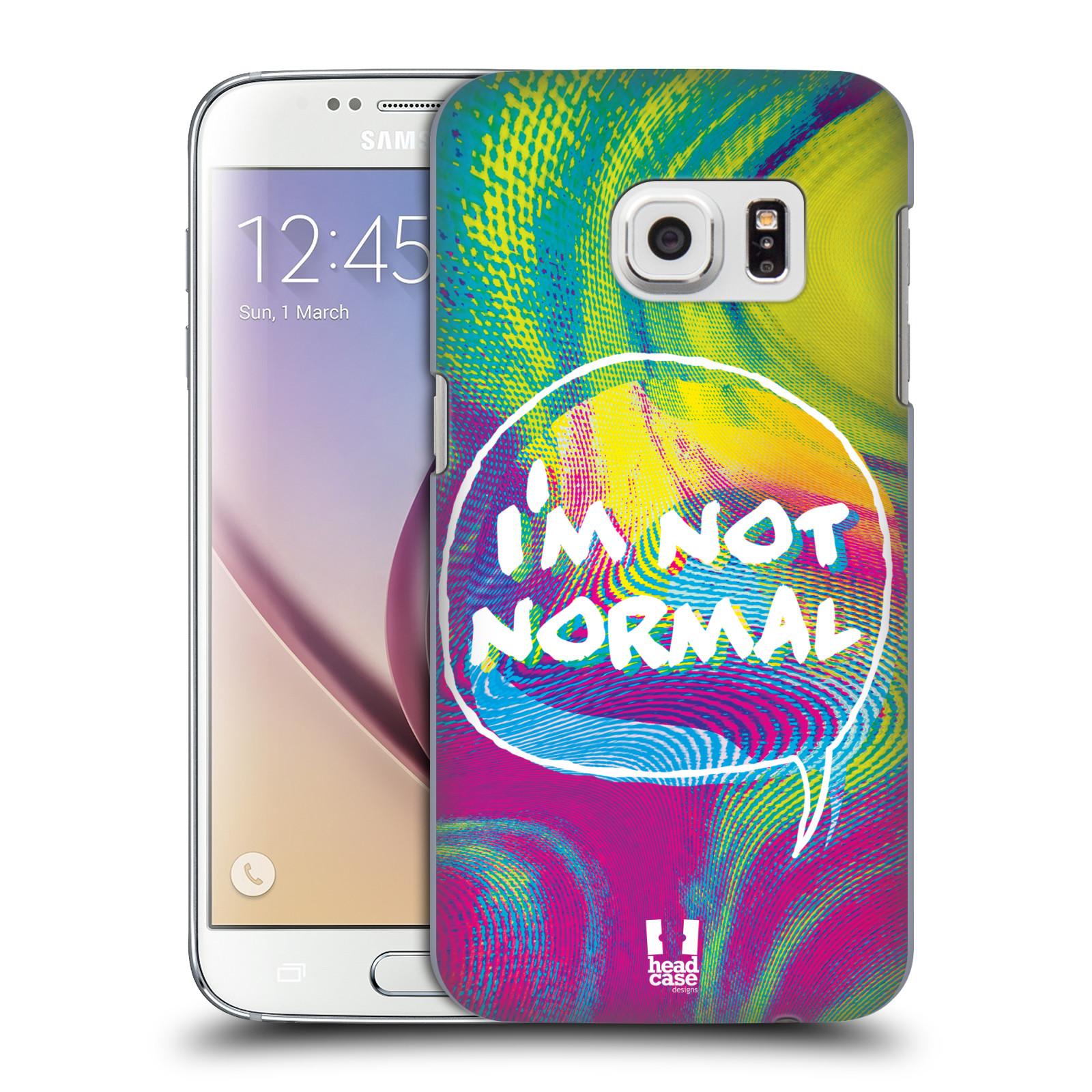 Plastové pouzdro na mobil Samsung Galaxy S7 HEAD CASE HOLOGRAF I'M NOT NORMAL (Kryt či obal na mobilní telefon Samsung Galaxy S7 SM-G930F)