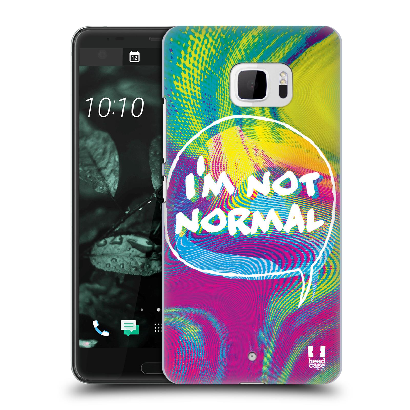 Plastové pouzdro na mobil HTC U Ultra Head Case - HOLOGRAF I'M NOT NORMAL (Plastový kryt či obal na mobilní telefon HTC U Ultra (99HALT015-00))