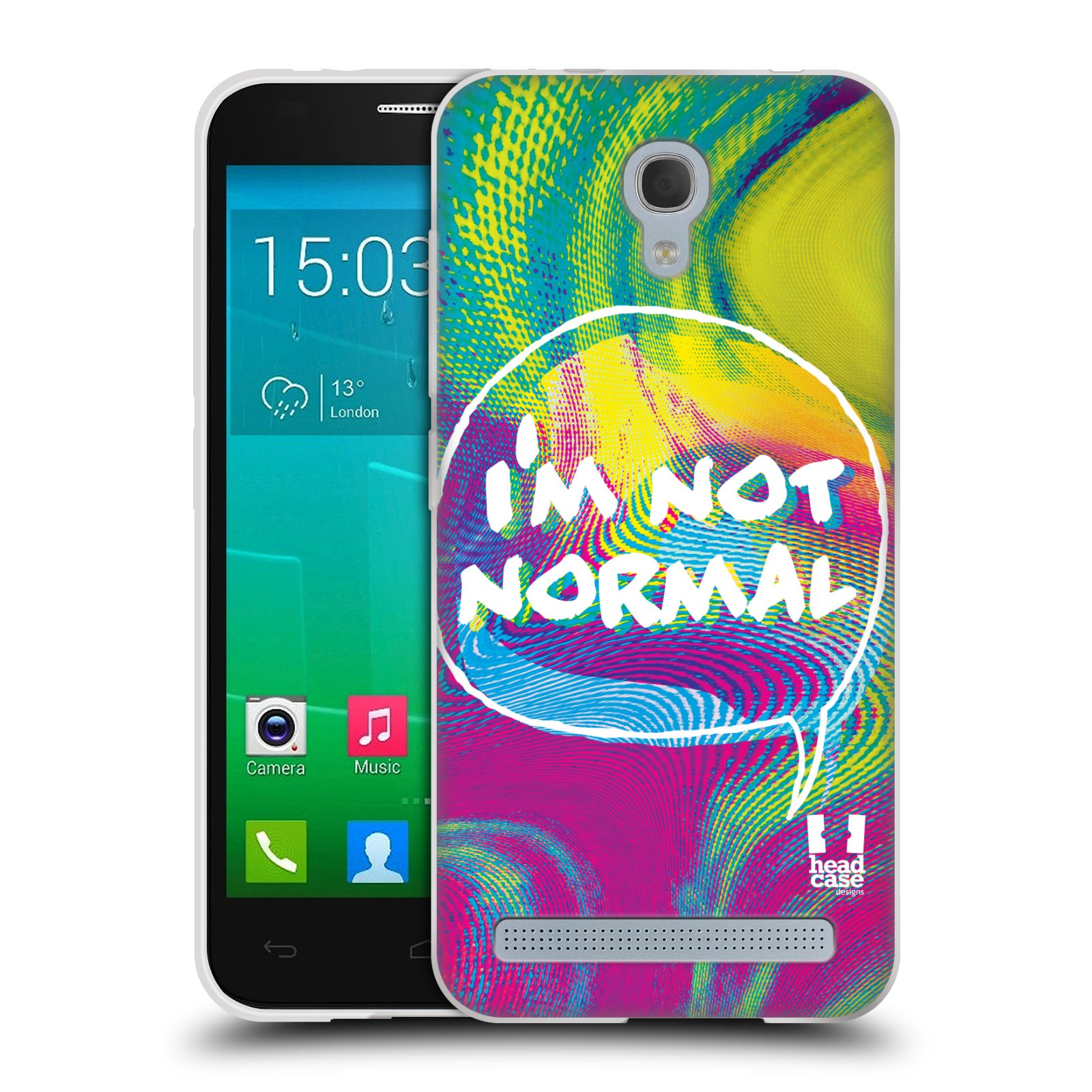Silikonové pouzdro na mobil Alcatel One Touch Idol 2 Mini S 6036Y HEAD CASE HOLOGRAF I'M NOT NORMAL (Silikonový kryt či obal na mobilní telefon Alcatel Idol 2 Mini S OT-6036Y)