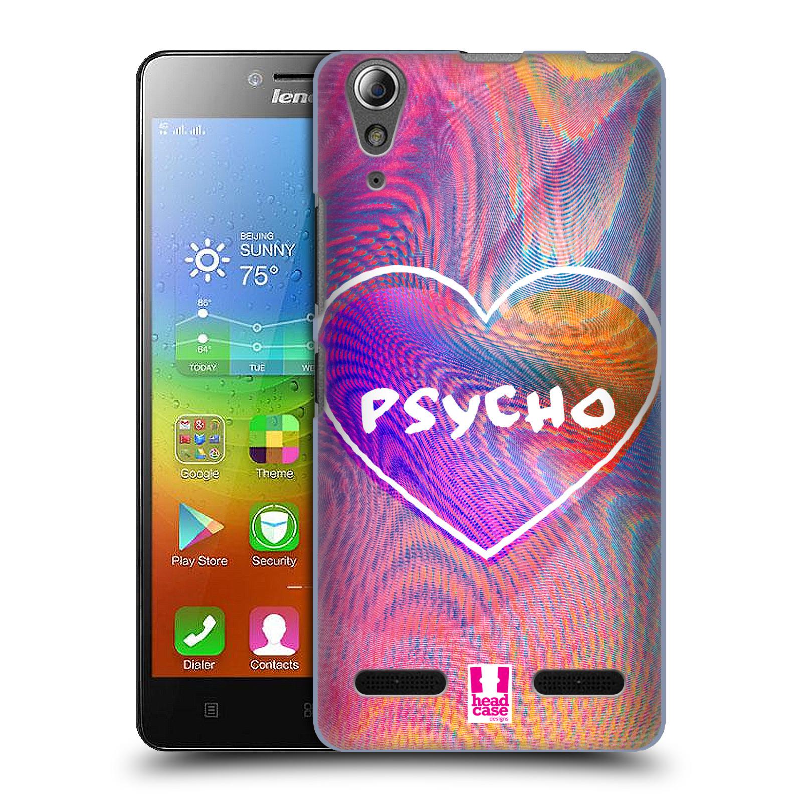 Plastové pouzdro na mobil Lenovo A6000 HEAD CASE HOLOGRAF PSYCHO (Kryt či obal na mobilní telefon Lenovo A6000 / A6000 Plus)