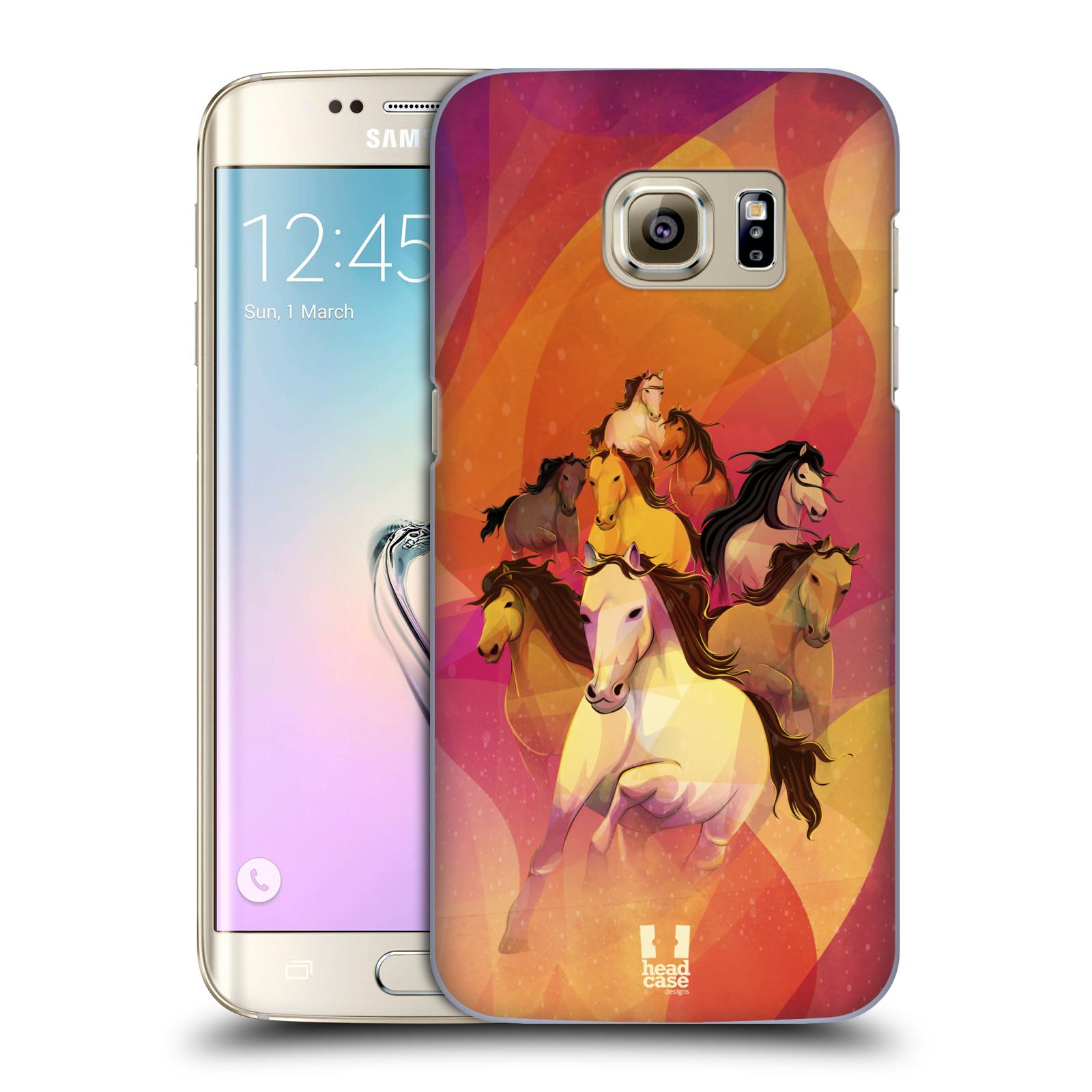 Plastové pouzdro na mobil Samsung Galaxy S7 Edge HEAD CASE OSM KONÍKŮ (Kryt či obal na mobilní telefon Samsung Galaxy S7 Edge SM-G935F)