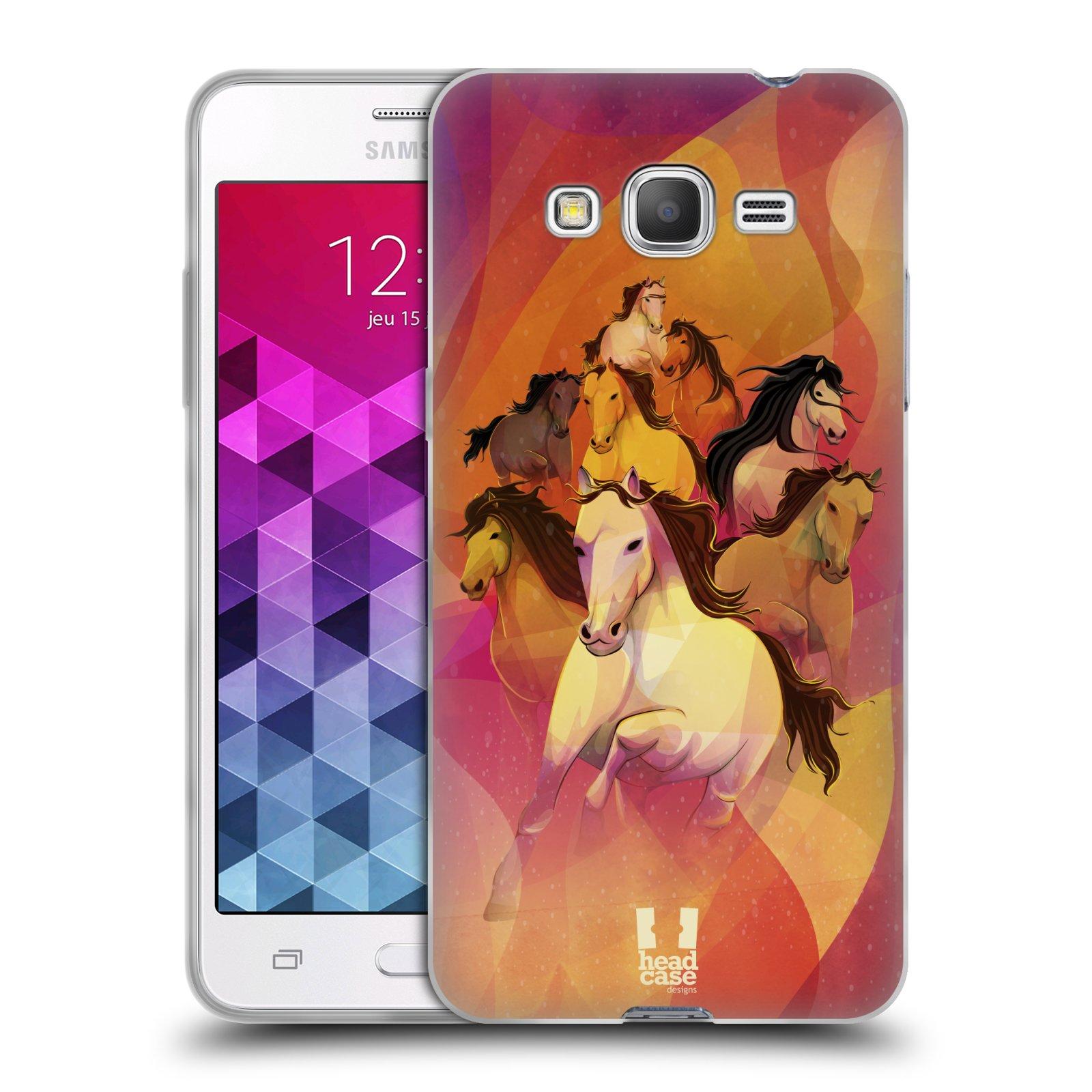 Silikonové pouzdro na mobil Samsung Galaxy Grand Prime HEAD CASE OSM KONÍKŮ