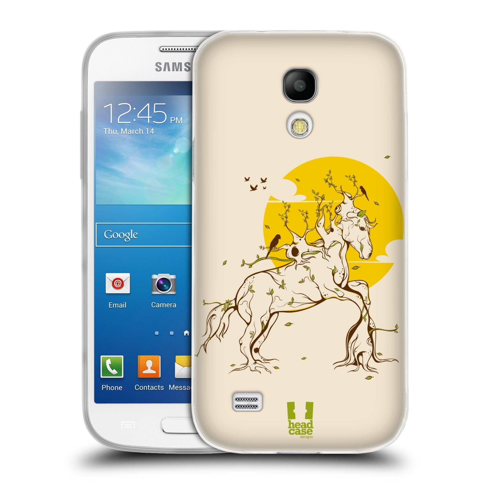 Silikonové pouzdro na mobil Samsung Galaxy S4 Mini VE HEAD CASE KONÍK VE STROMOVÉM HÁVU (Silikonový kryt či obal na mobilní telefon Samsung Galaxy S4 Mini VE GT-i9195i (nepasuje na verzi Black Edition))