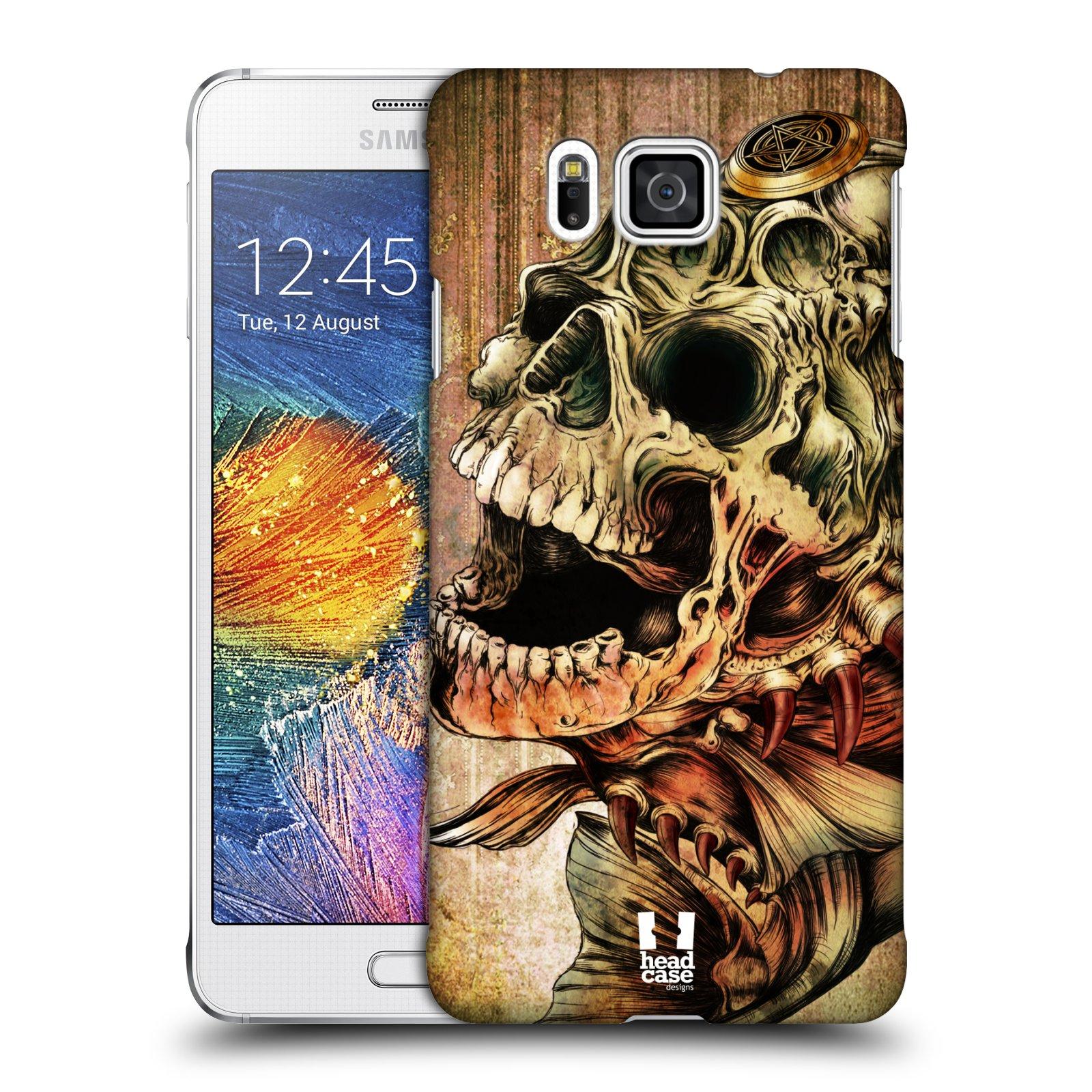 Plastové pouzdro na mobil Samsung Galaxy Alpha HEAD CASE PIRANHA