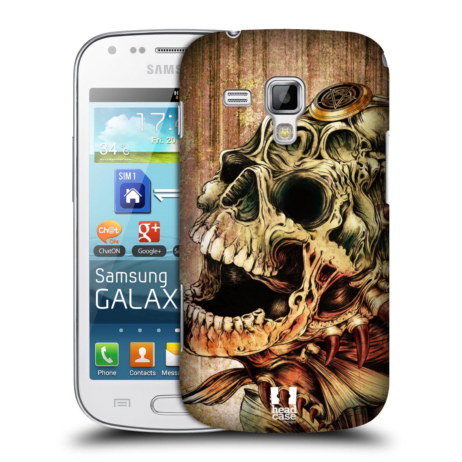 Plastové pouzdro na mobil Samsung Galaxy S Duos 2 HEAD CASE PIRANHA