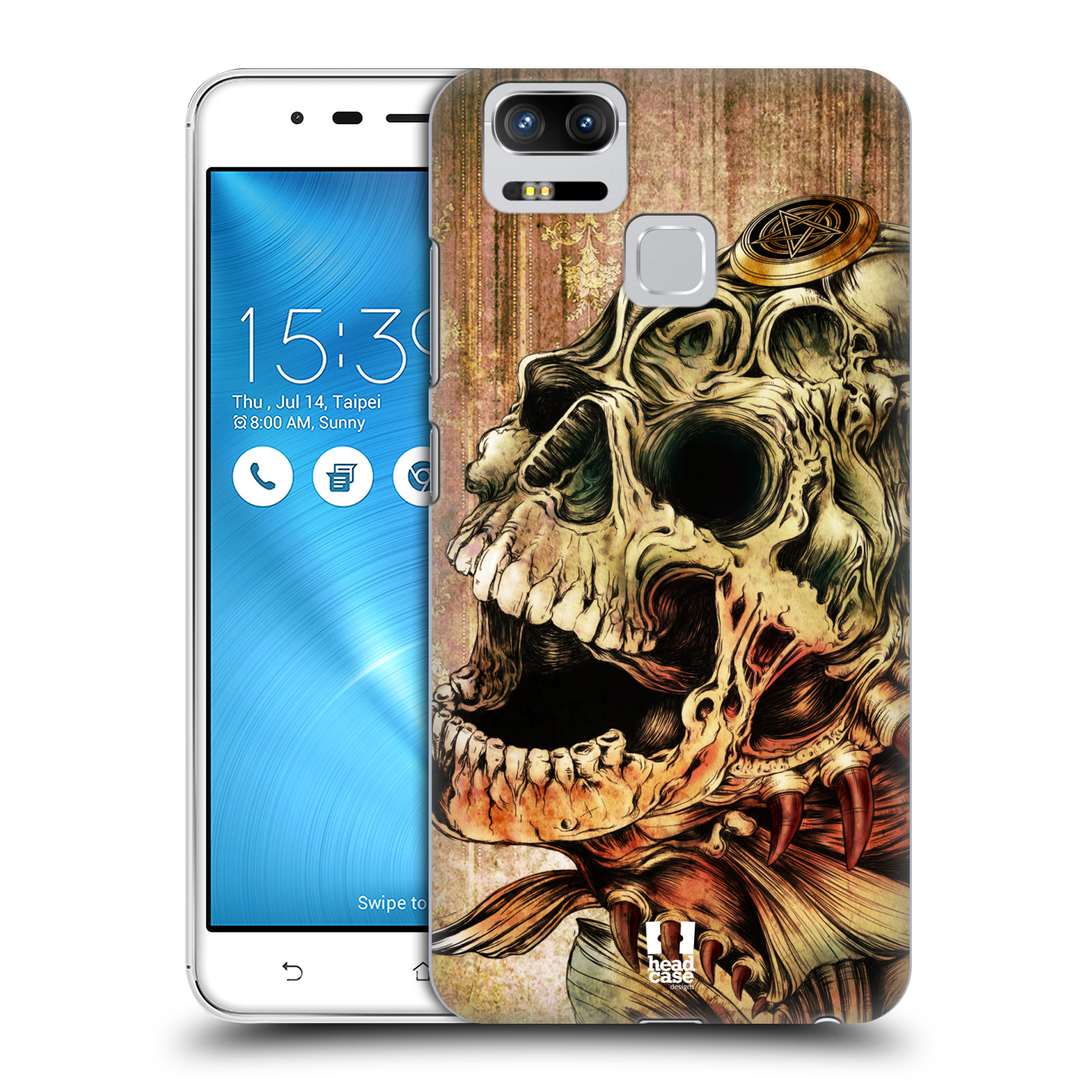 Plastové pouzdro na mobil Asus ZenFone 3 ZOOM ZE553KL - Head Case - PIRANHA (Plastový kryt či obal na mobilní telefon Asus ZenFone 3 ZOOM ZE553KL s motivem PIRANHA)