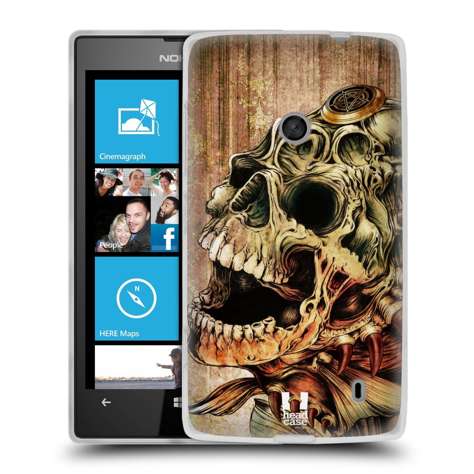 Silikonové pouzdro na mobil Nokia Lumia 520 HEAD CASE PIRANHA (Silikonový Kryt či obal na mobilní telefon Nokia Lumia 520)
