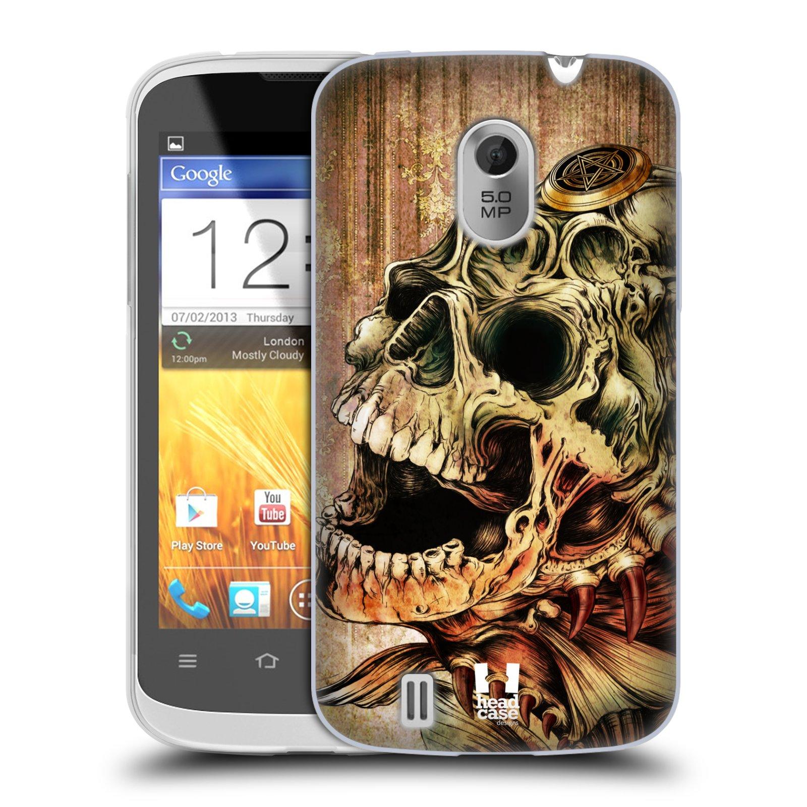 Silikonové pouzdro na mobil ZTE Blade III HEAD CASE PIRANHA (Silikonový kryt či obal na mobilní telefon ZTE Blade 3)